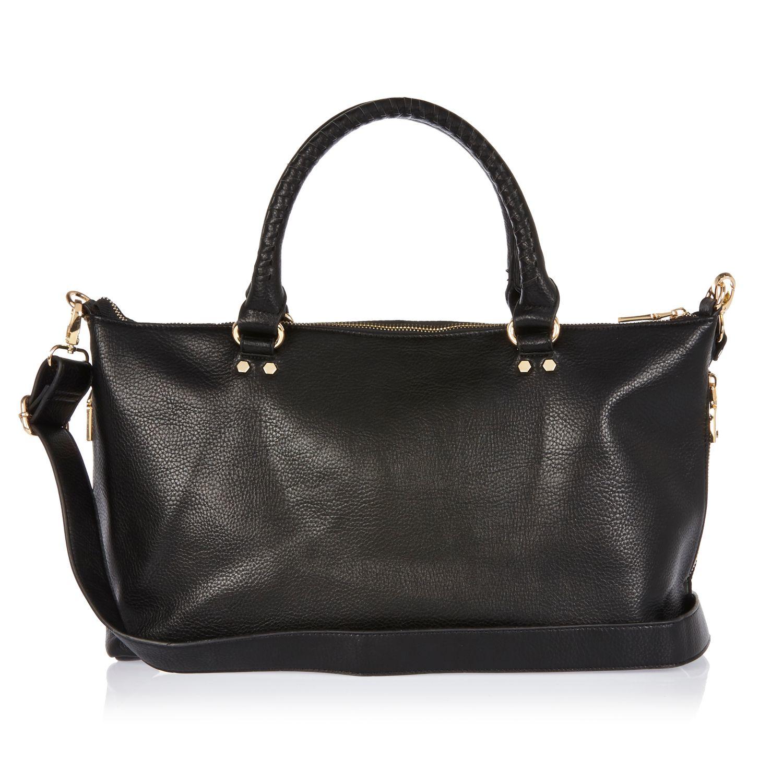 River Island Synthetic Black Mini Tote Bag