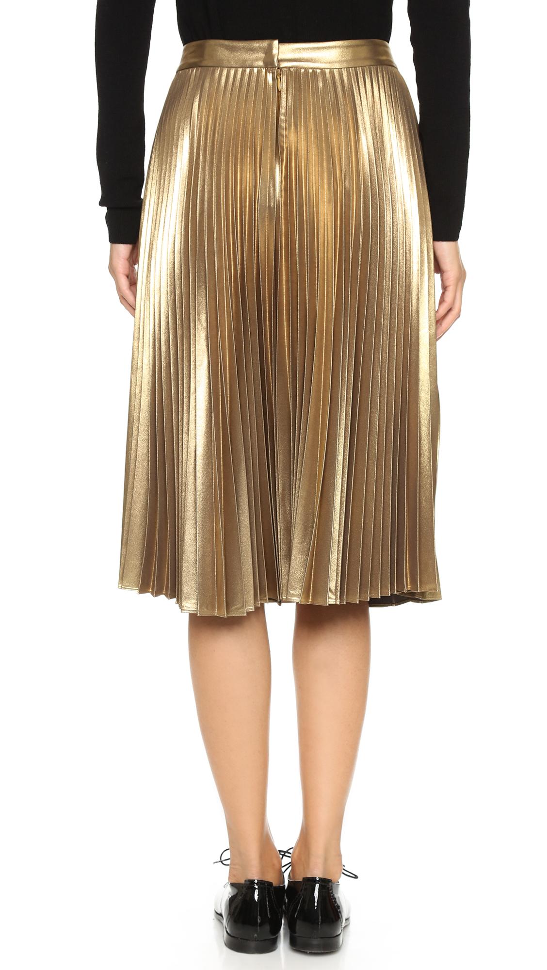 A.L.C. Gates Skirt - Gold in Metallic