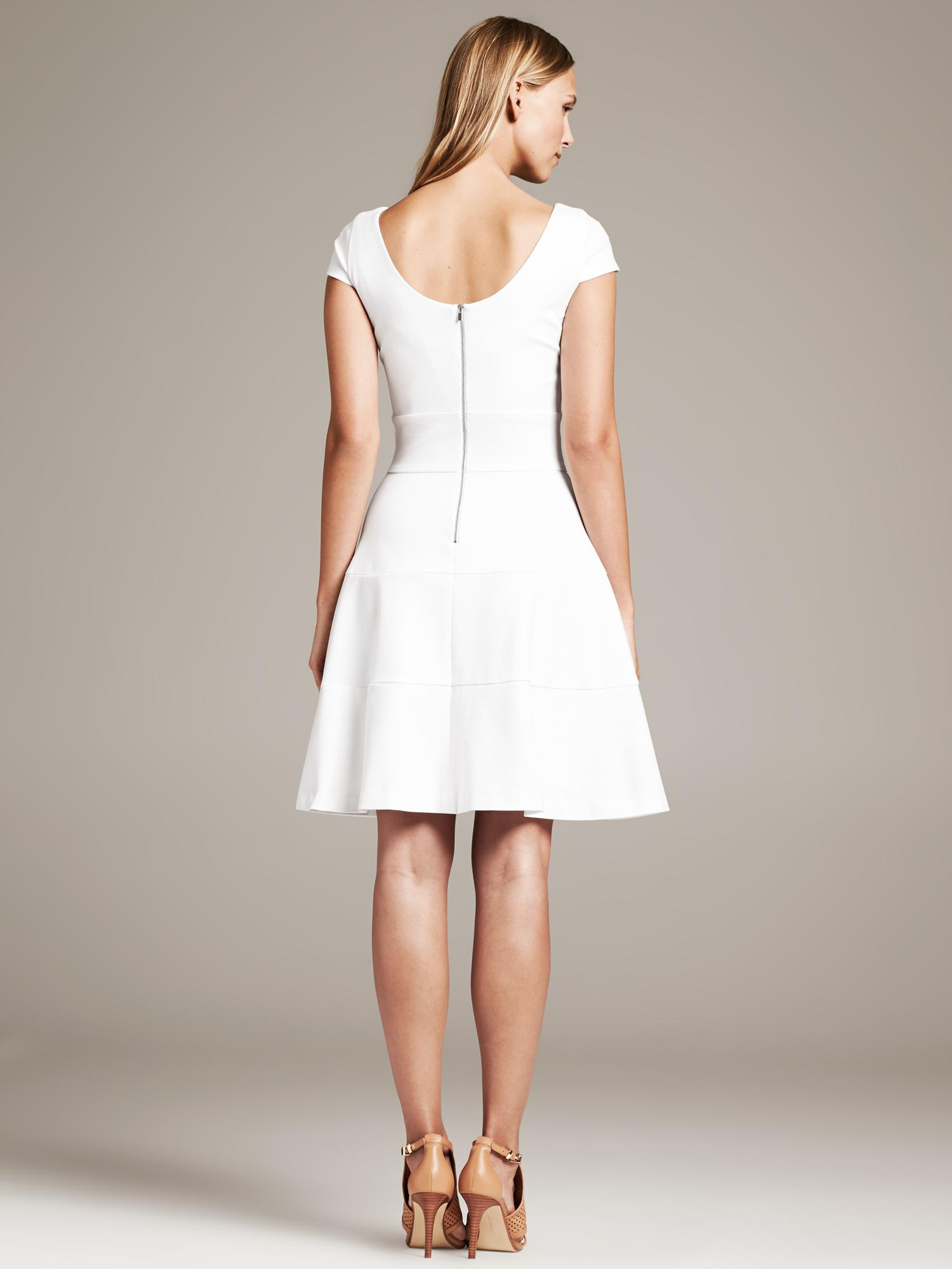Lyst Banana Republic Seamed Fit And Flare Dress In White