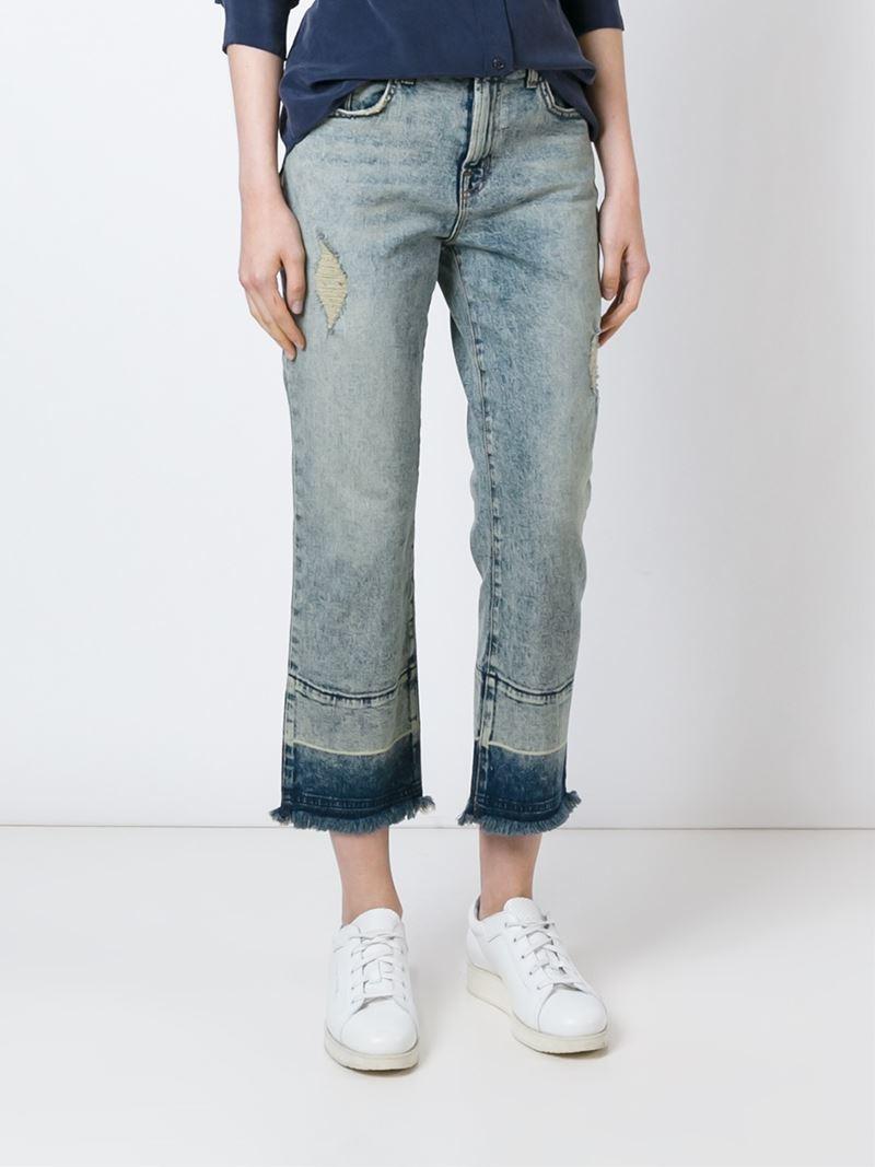 J Brand Dip Dye Jeans in Blue