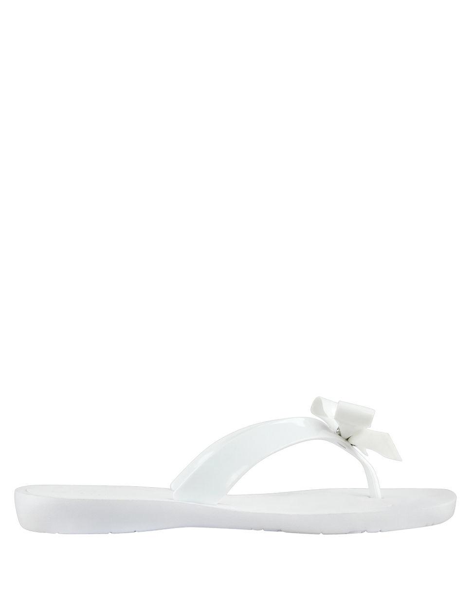 Guess Rubber Tutu Flip Flops In White Gray - Lyst-6483