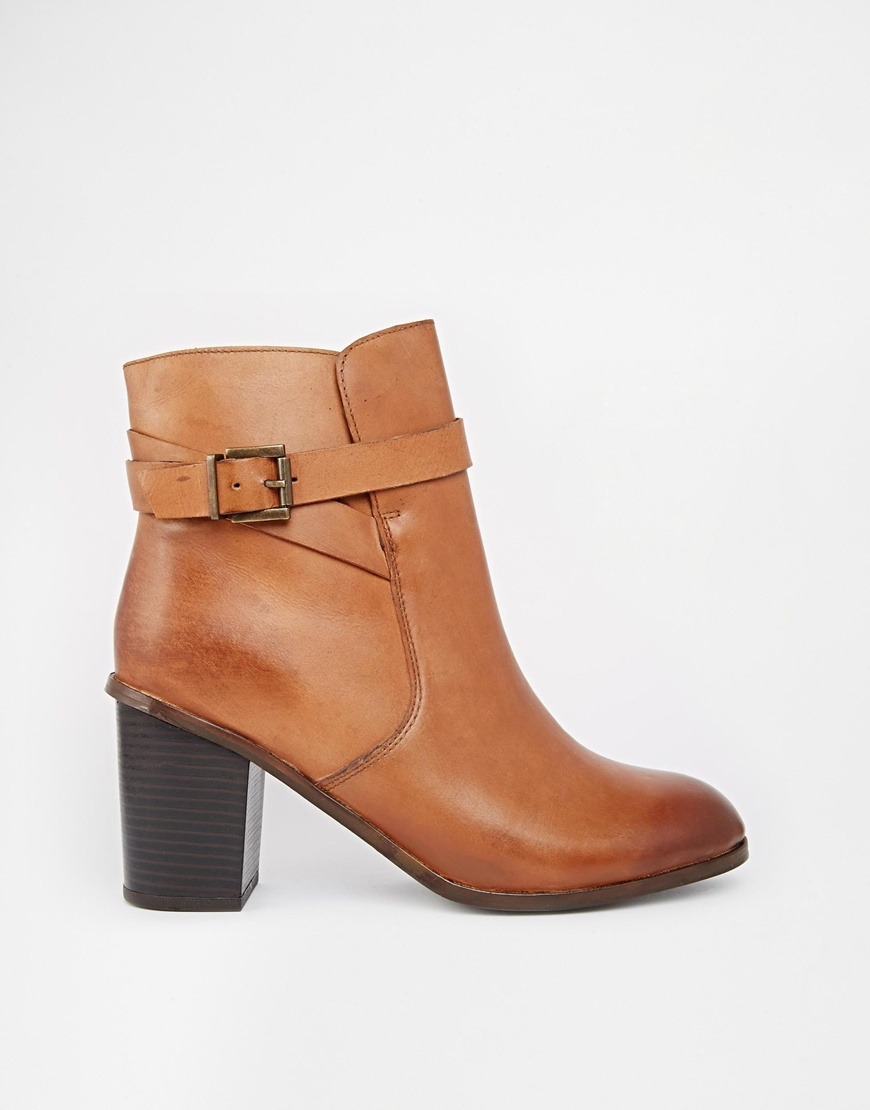 Lyst - Carvela Kurt Geiger Tamsin Leather Heeled Ankle Boots In Brown