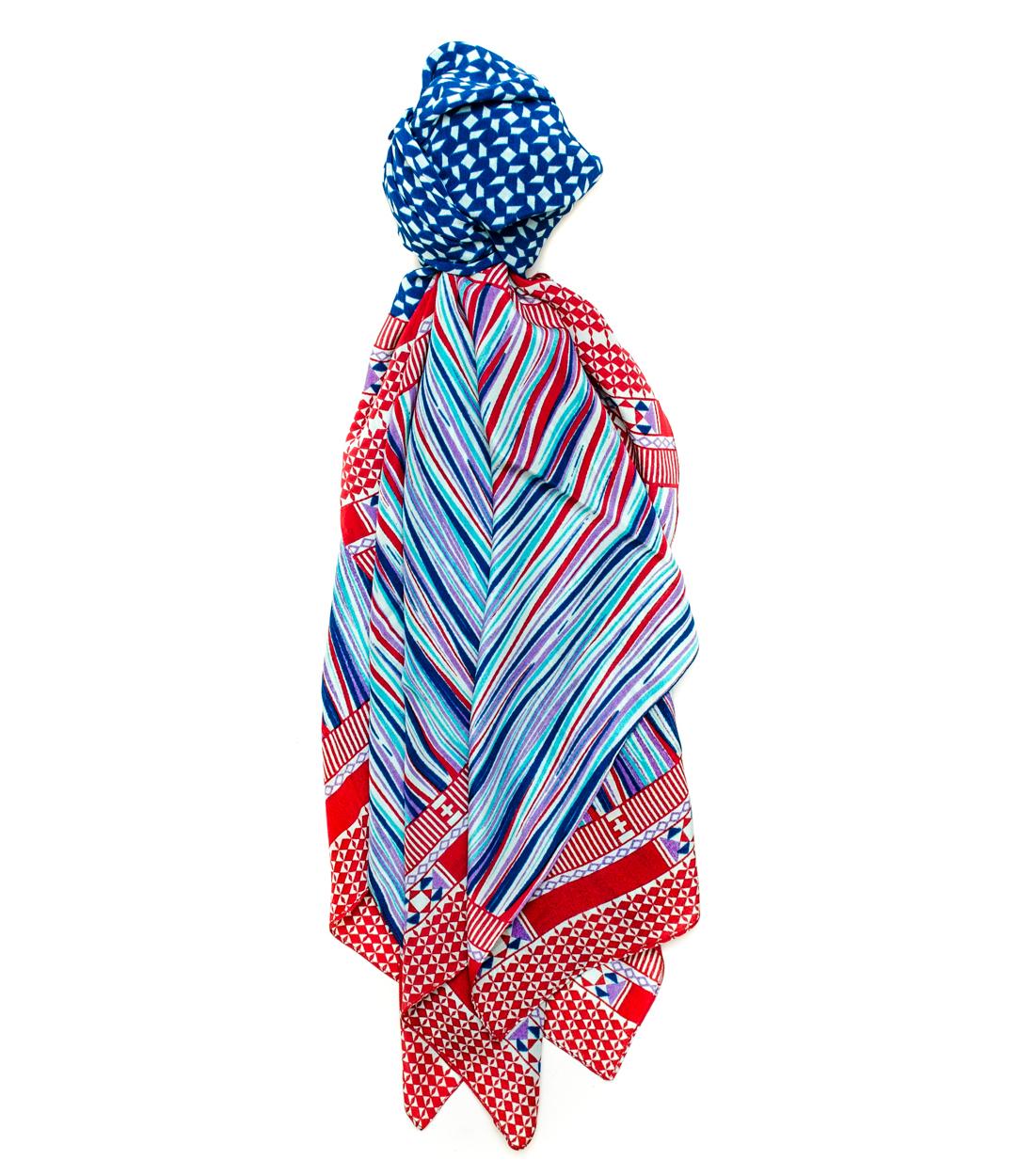 a peace treaty kivark scarf in mint in multicolor mint