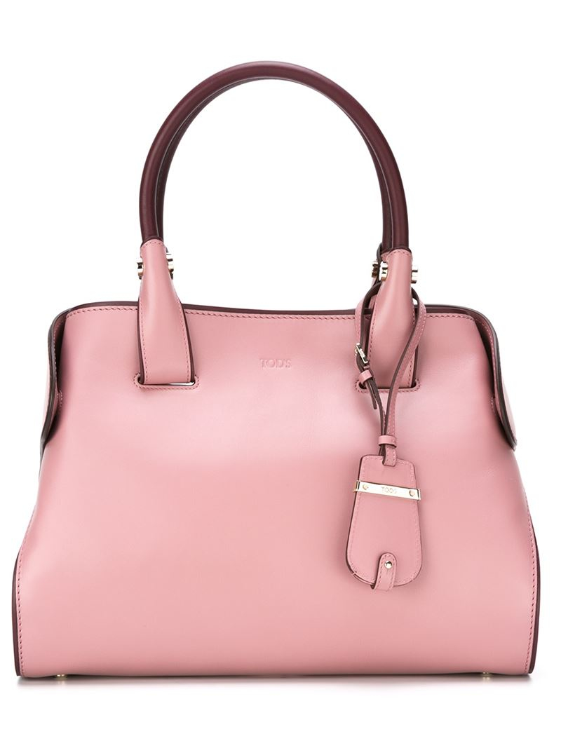 Tod's Medium 'cape' Tote in Pink & Purple (Pink)