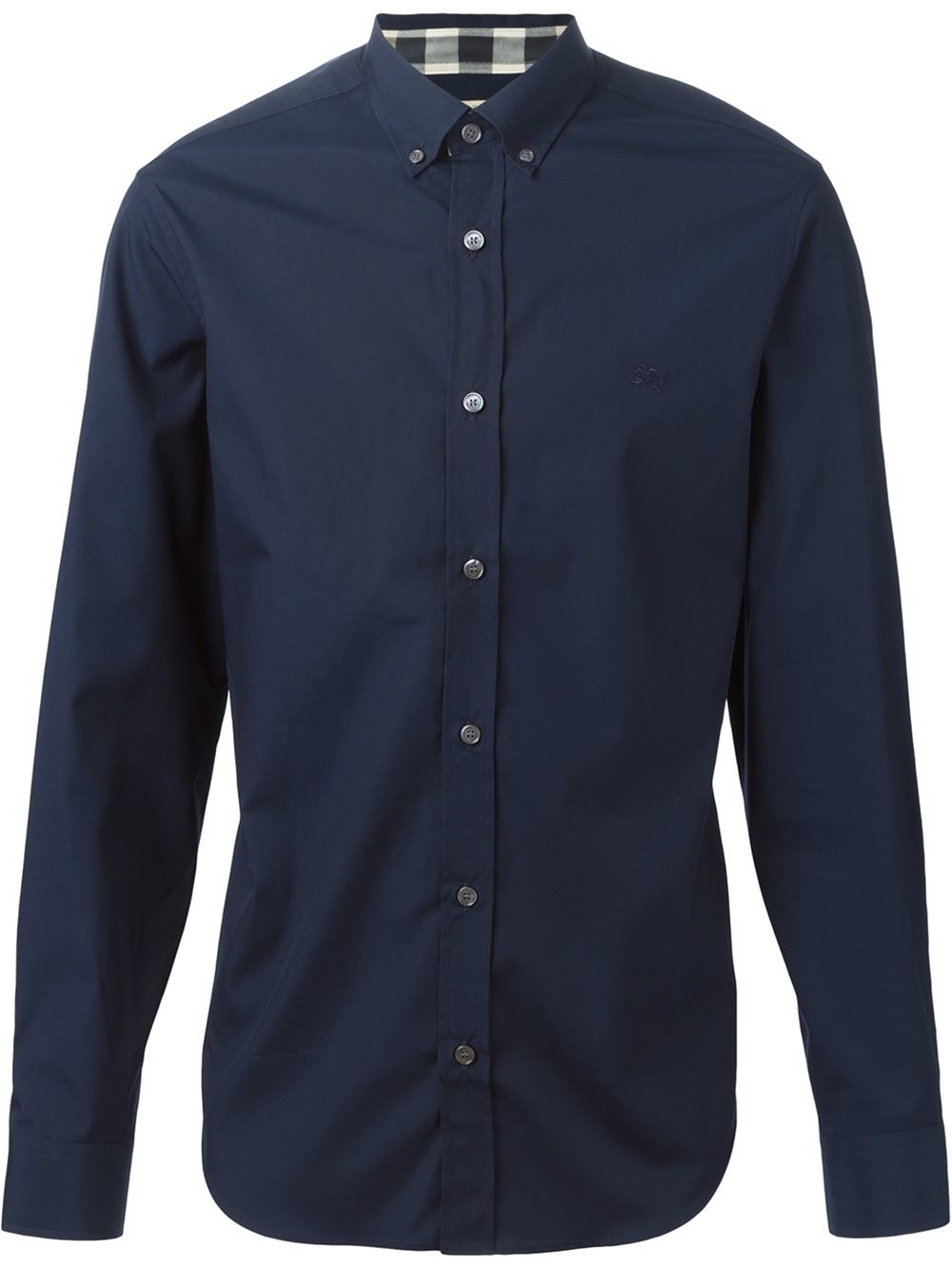 Burberry Brit Classic Button Down Shirt In Blue For Men Lyst