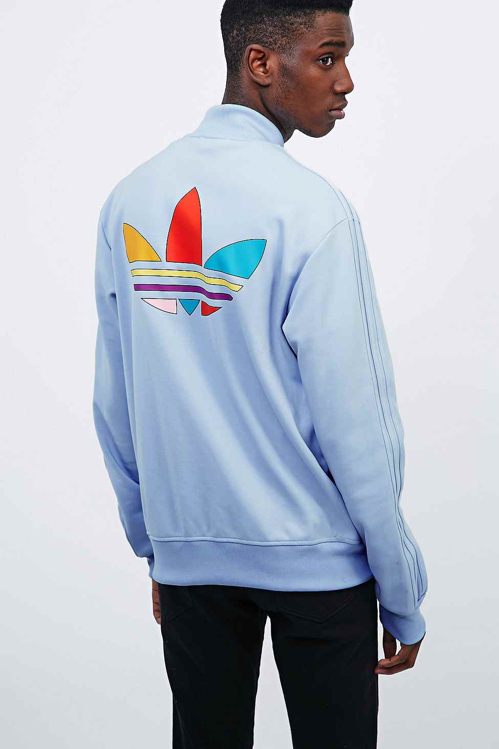 adidas X Pharrell Supercolor Track Jacket In Clear Sky in Blue for Men