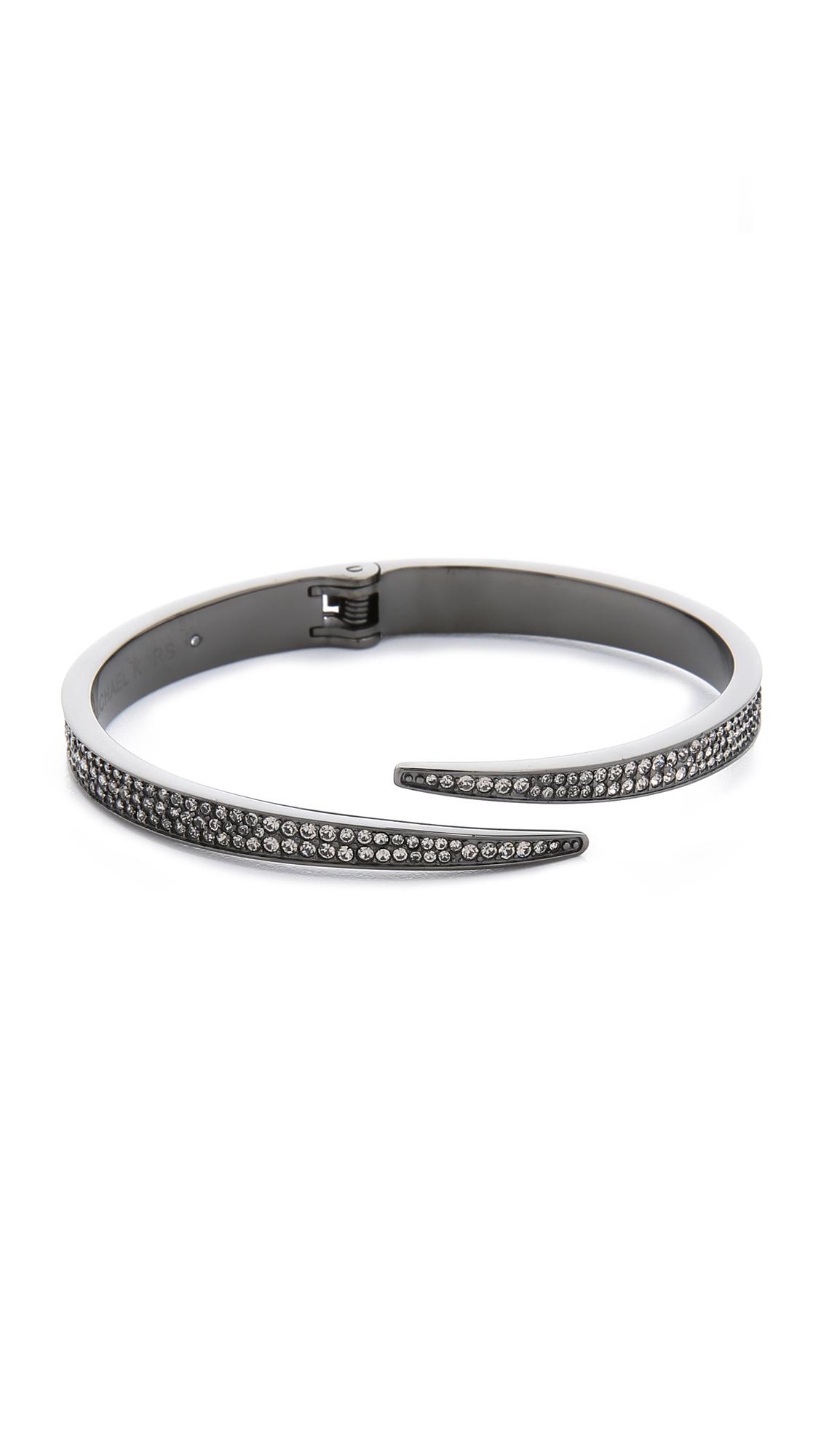 Michael Kors Pave Matchstick Hinge Bangle Bracelet