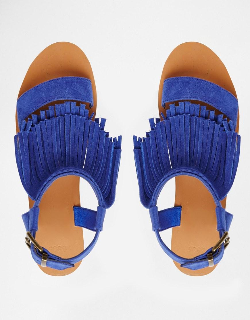 Cobalt Blue Wedge Heels