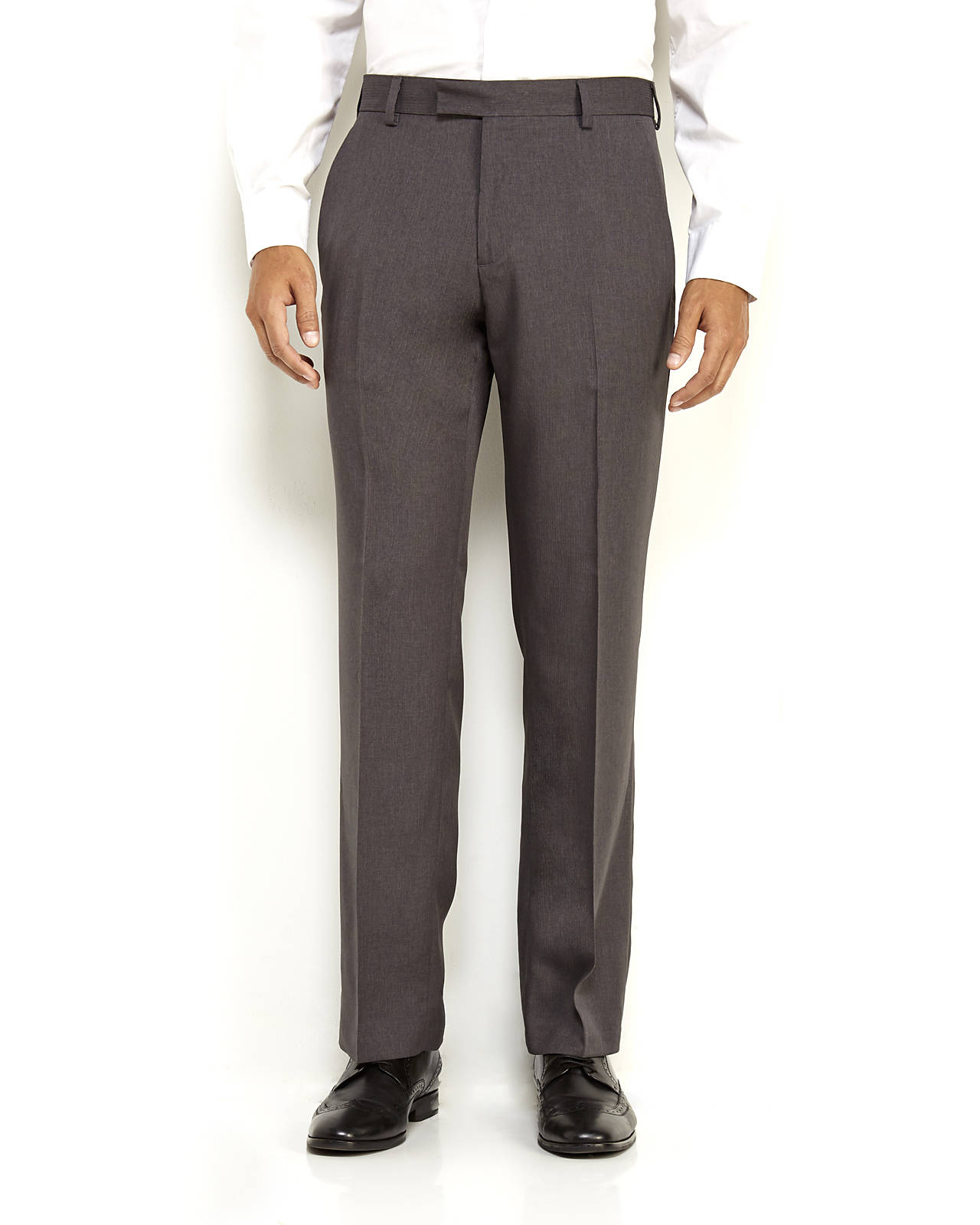 Perfect  Klein Slimfit Solid Dress Pants In Gray For Men Light Grey  Lyst