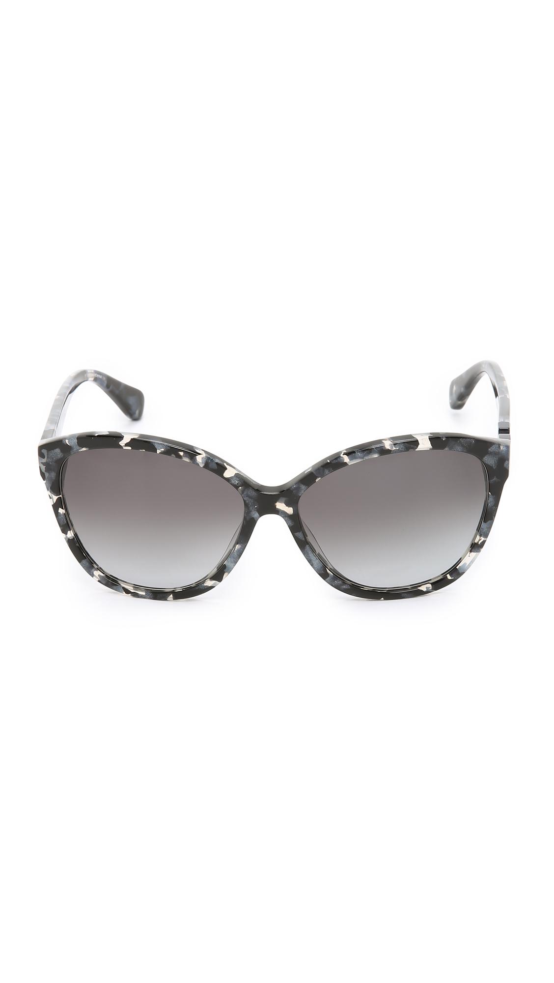 Diane Von Furstenberg Harper Sunglasses in Gray - Lyst