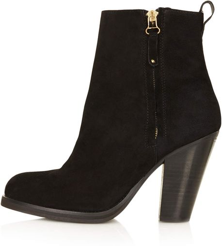 topshop western ankle boots in black lyst