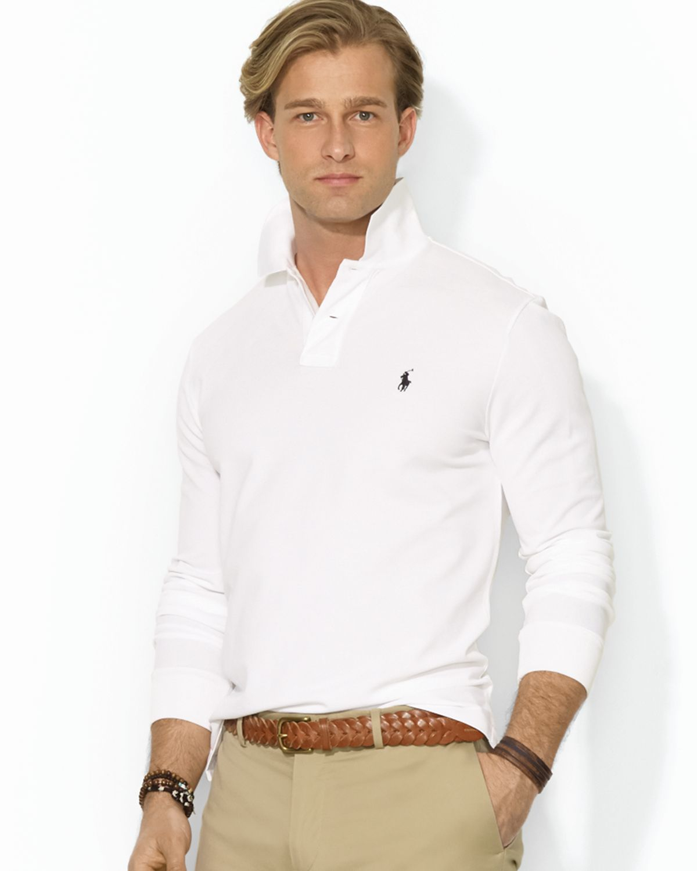 8d1e91d23 ... germany lyst ralph lauren polo custom longsleeved stretchmesh polo shirt  08d51 d84f5
