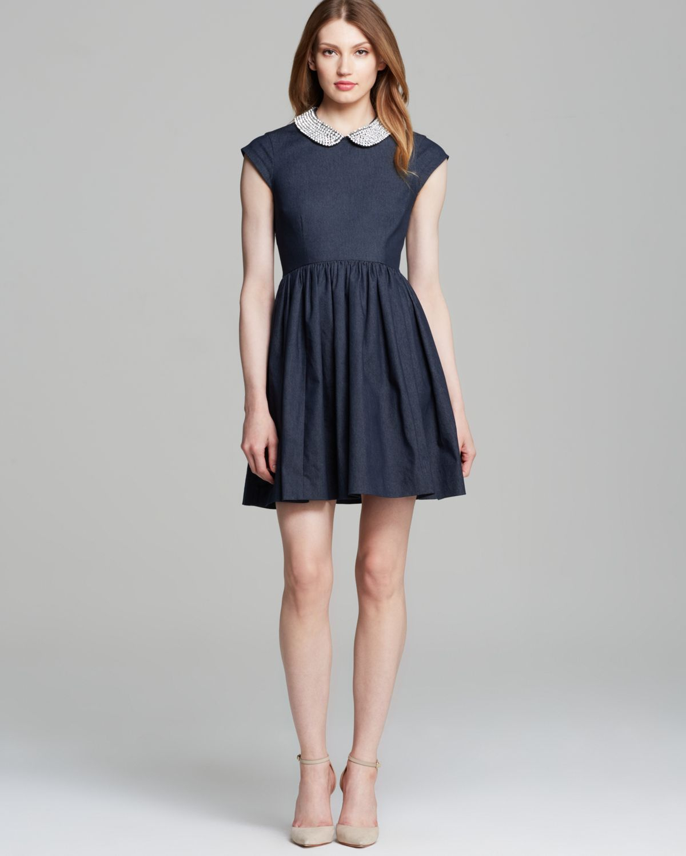Kate Spade Kimberly Denim Dress In Blue Dark Blue Lyst