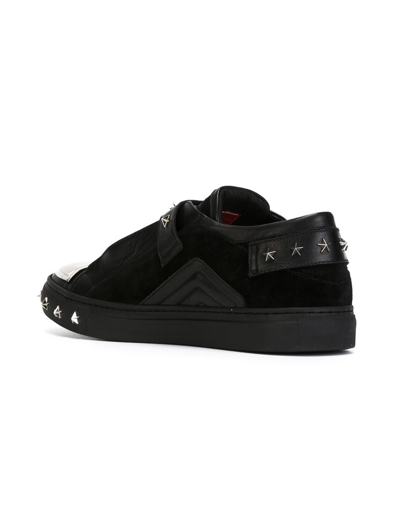 d10e2ce65df Philipp Plein Star Studded Sneakers in Black for Men - Lyst