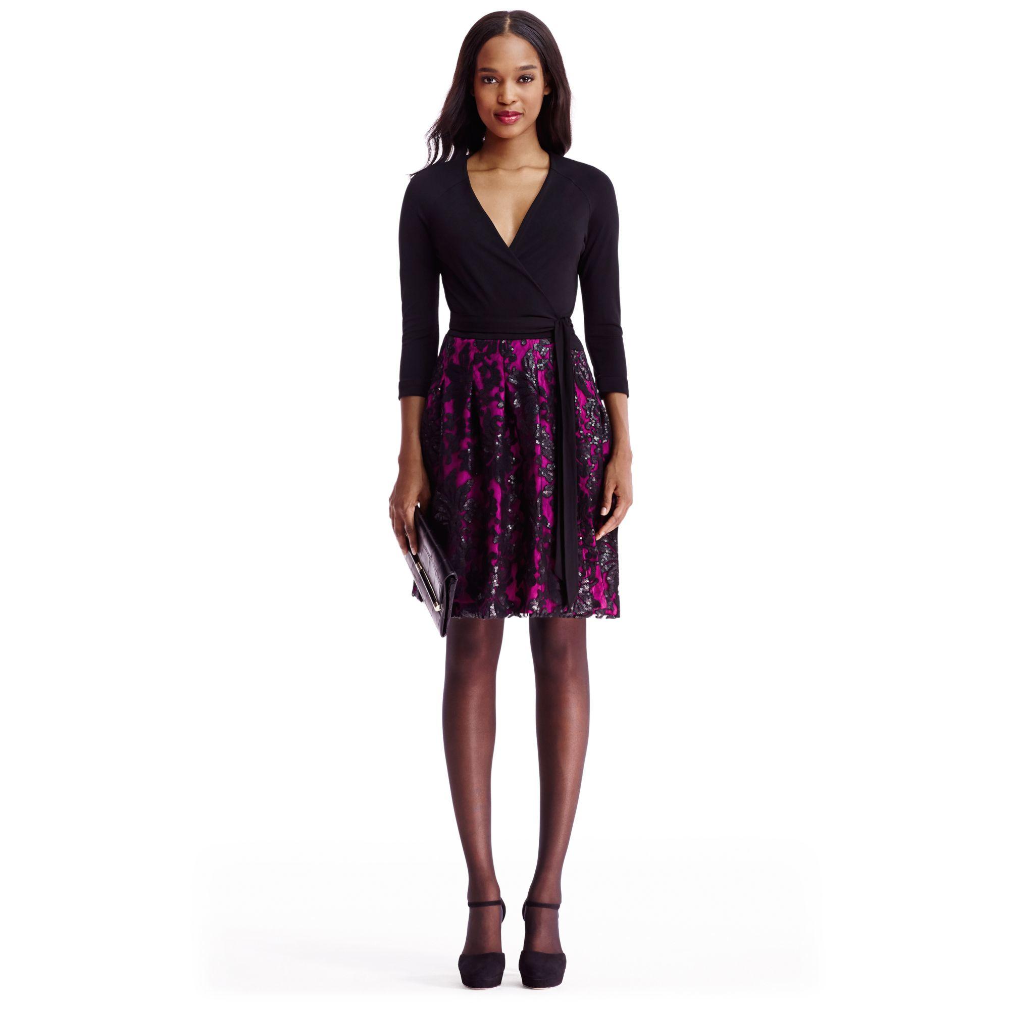 Diane von furstenberg Dvf Jewel Embellished Wrap Dress | Lyst