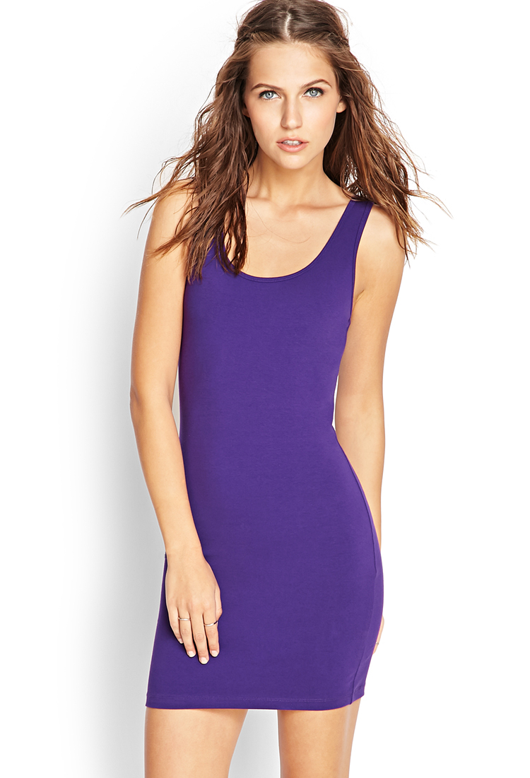 e07c347f32 Forever 21 Favorite Sleeveless Bodycon Dress in Purple - Lyst