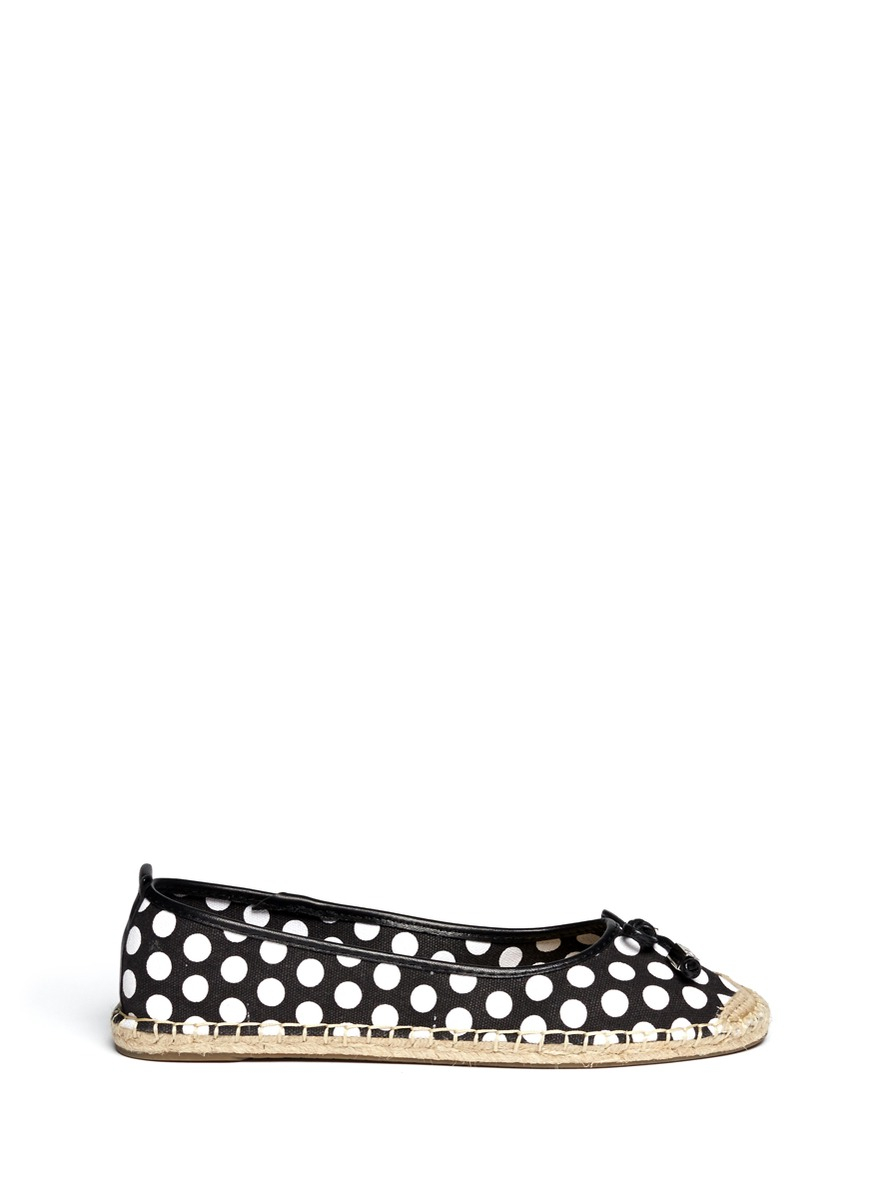 michael by michael kors meg polka dot ballerina espadrilles in multicolor multi colour lyst. Black Bedroom Furniture Sets. Home Design Ideas