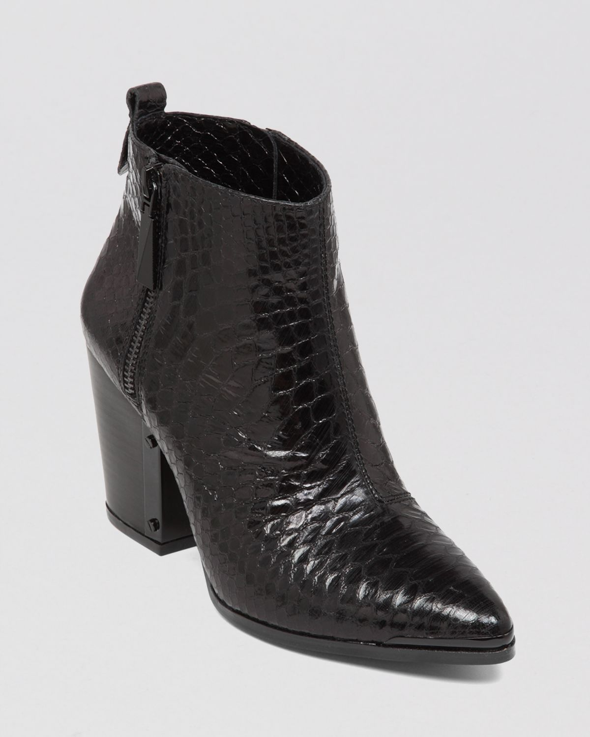 Vince Camuto Pointed Toe Booties Amori High Heel In Black