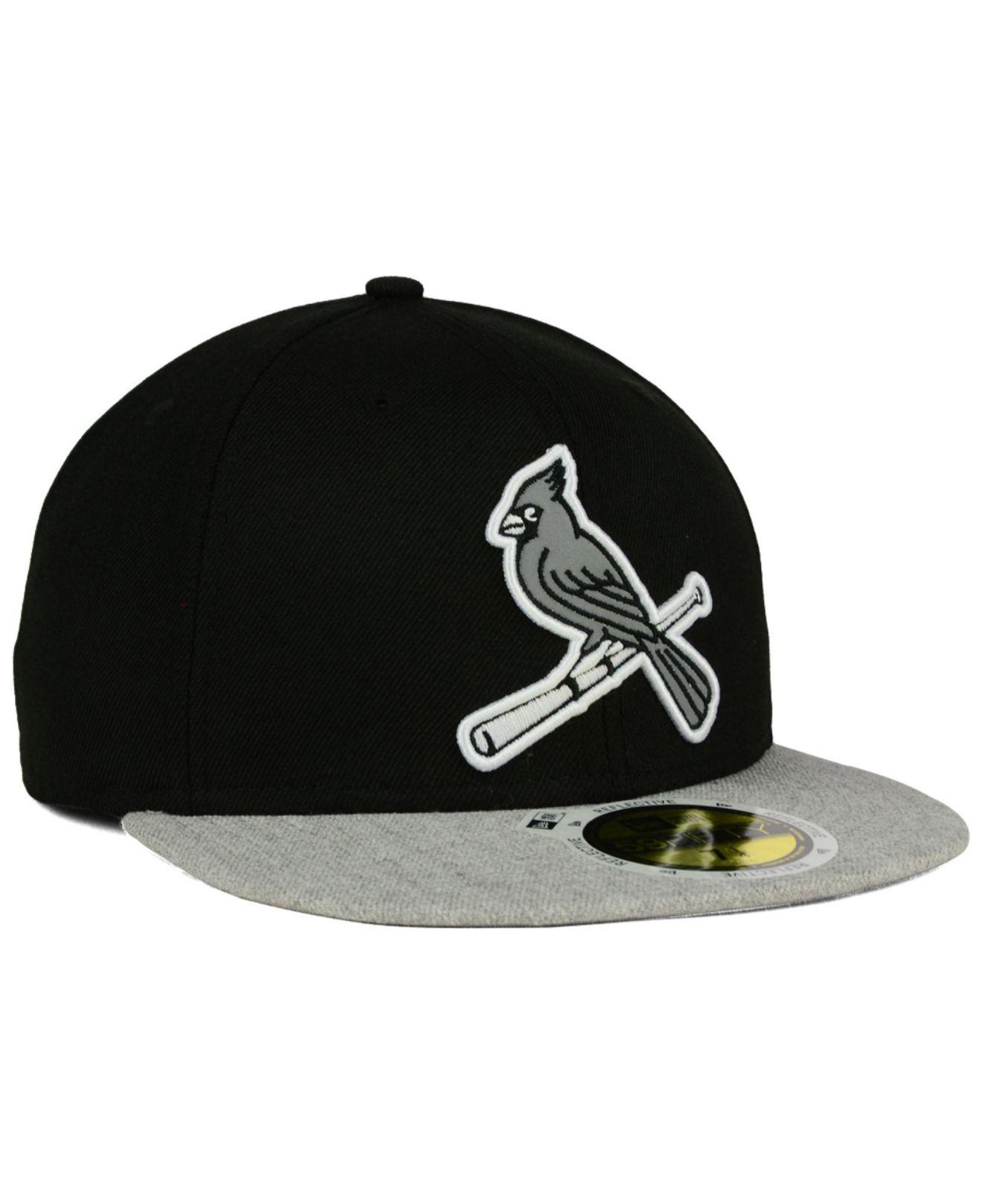 pretty nice bb252 7cb06 ... shop lyst ktz st. louis cardinals night reflective 59fifty cap in black  1a3e6 6f232