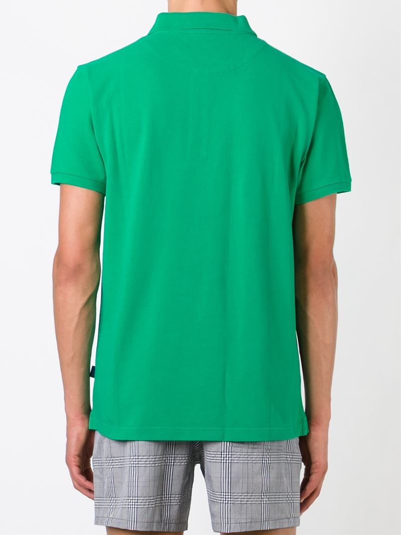 Lyst vilebrequin chest pocket polo shirt in green for men for Men s polo shirts with chest pocket