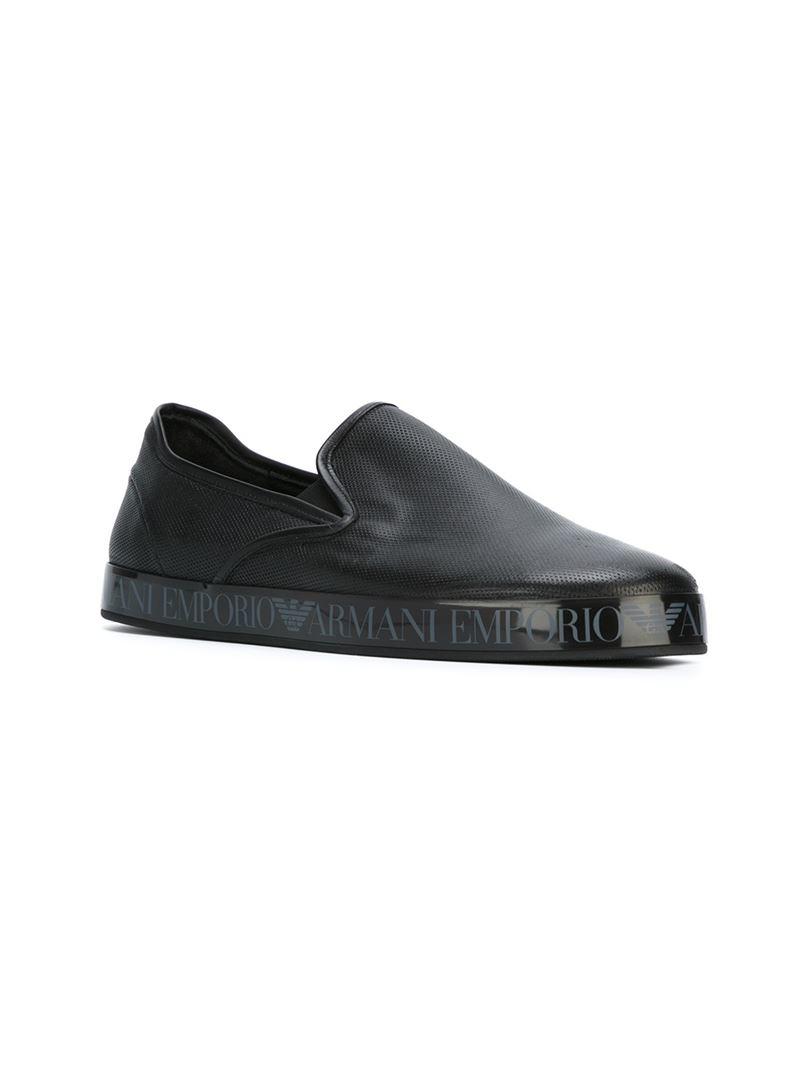 Emporio Armani Slip-on Sneakers in