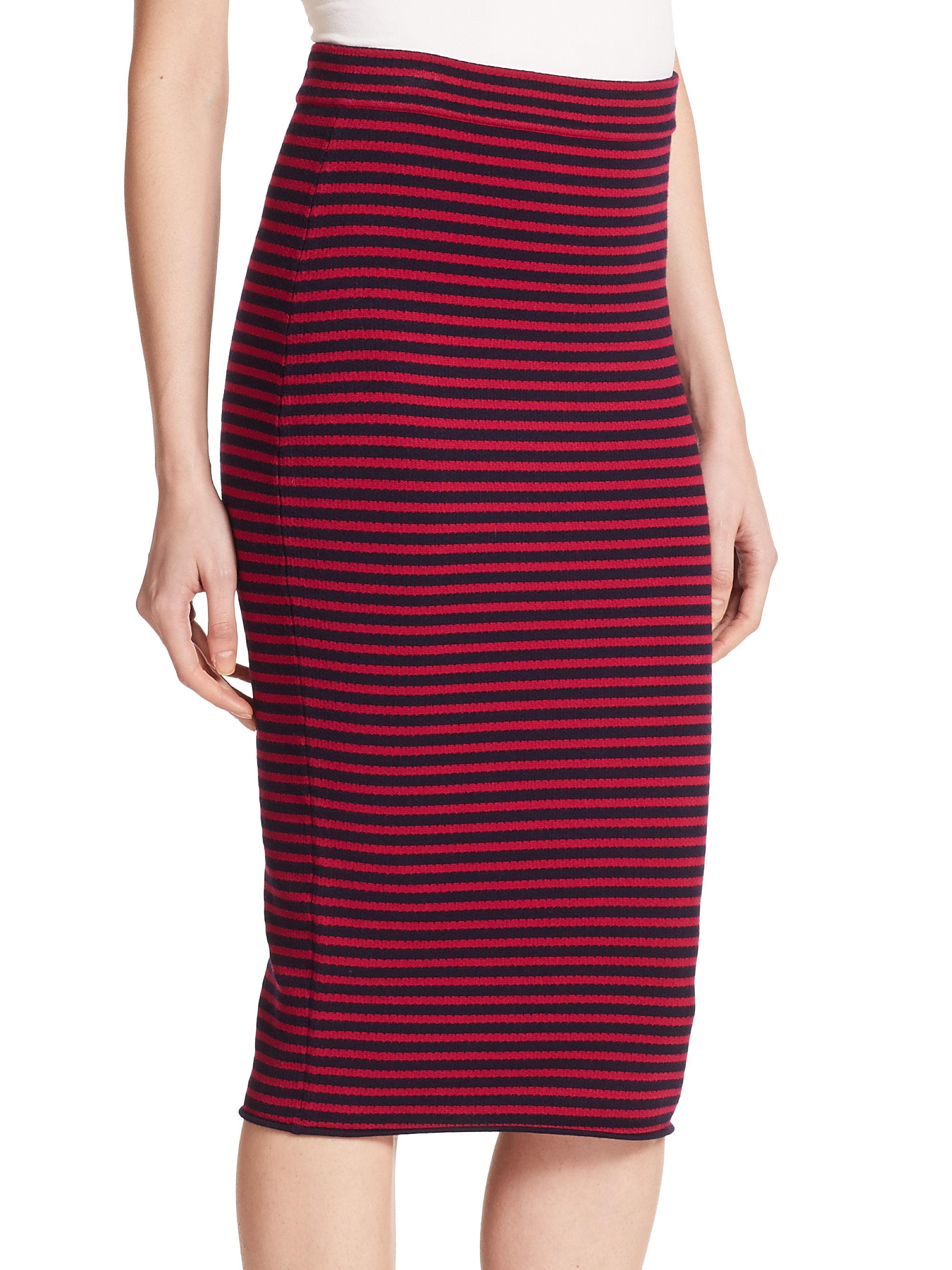 A.l.c. Delmar Striped Pencil Skirt in Blue | Lyst