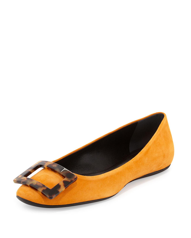 Orange Leather Mens Shoes