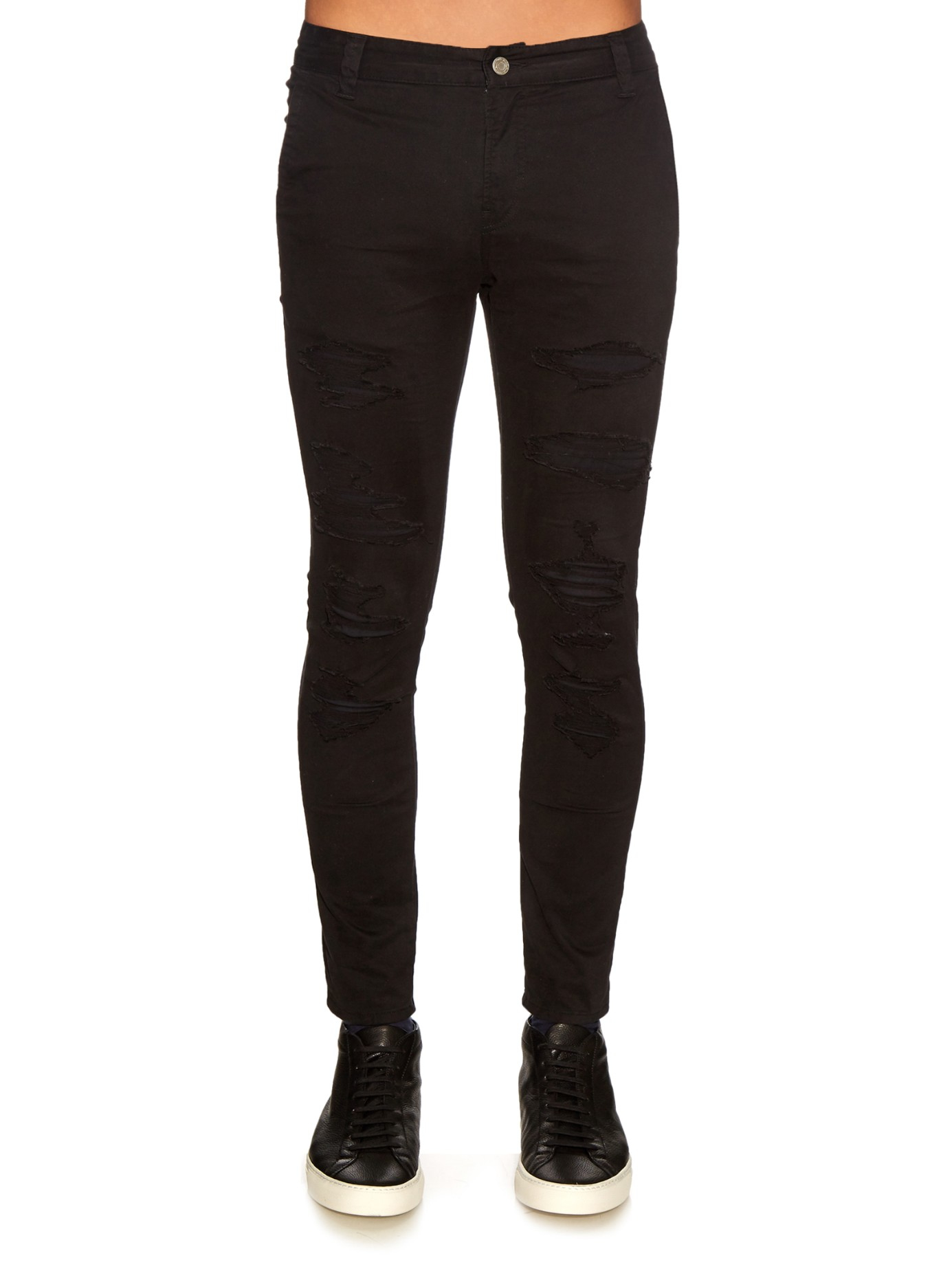 Lyst Undercover Distressed Skinny Jeans In Black For Men