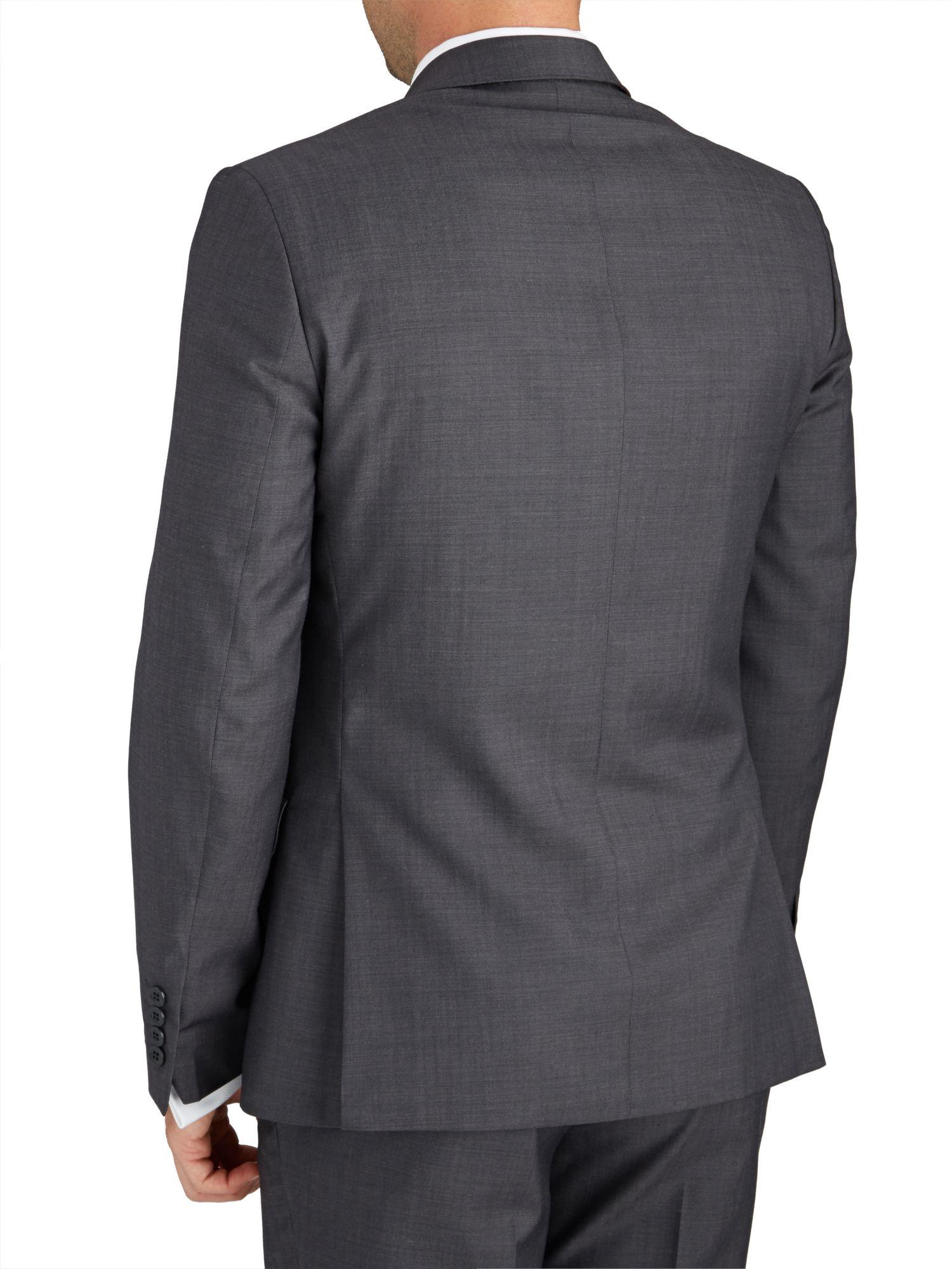 Paul Costelloe Wool Slim Fit Grey Tonic Suit Jacket in Grey for Men