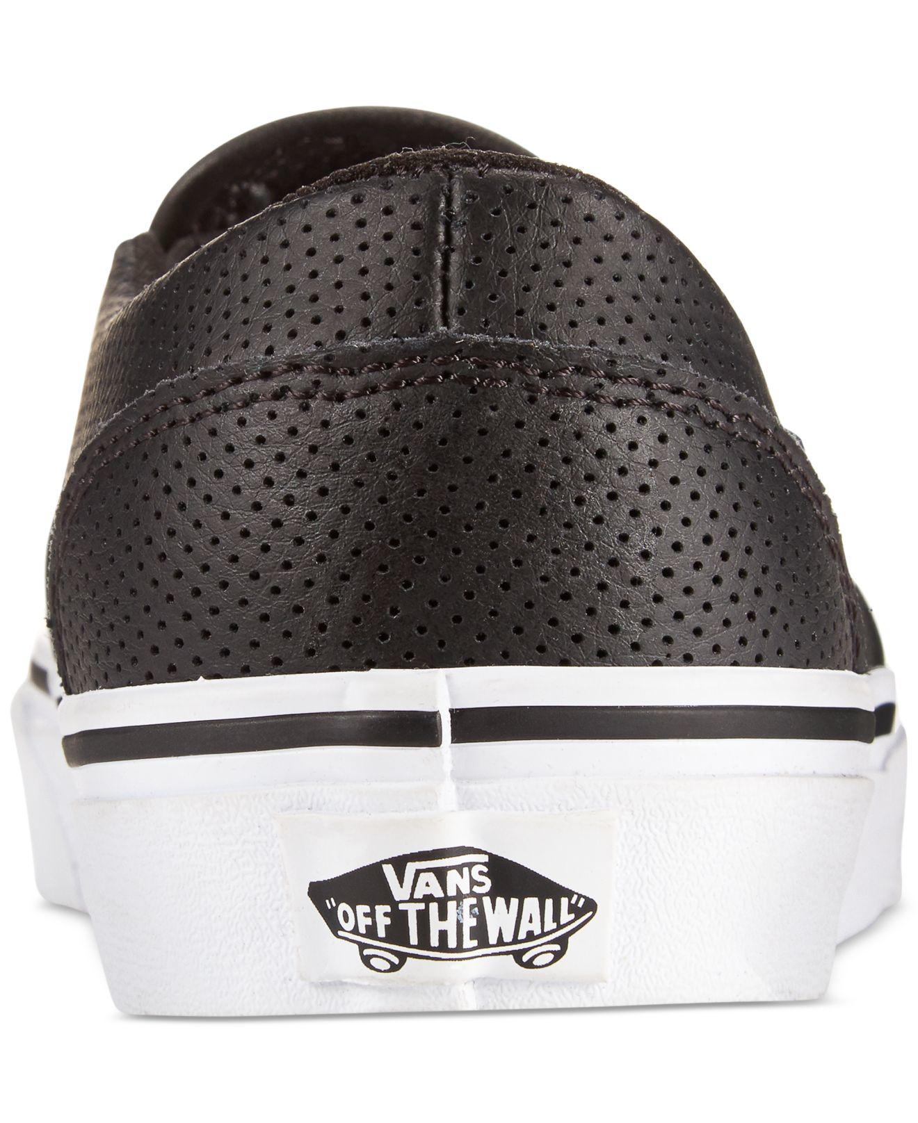 d6ba90593a5176 Lyst - Vans Women s Asher Classic Slip-on Sneakers in Black