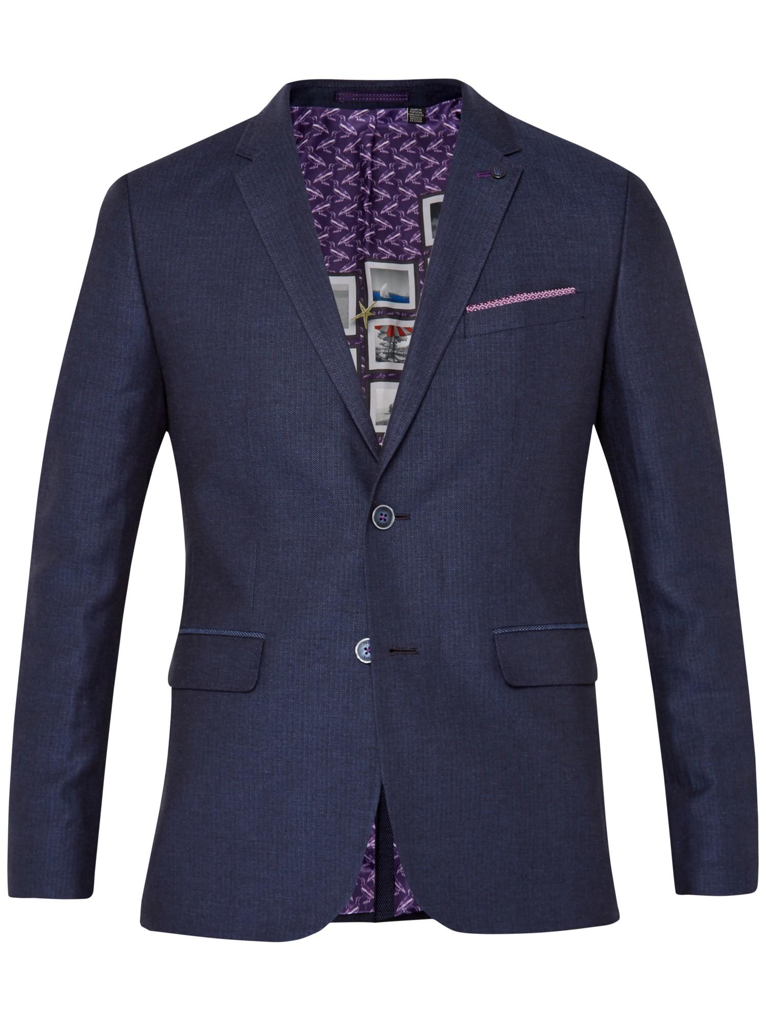 Ted Baker Popping Linen Herringbone Suit Jacket in Navy (Green) for Men