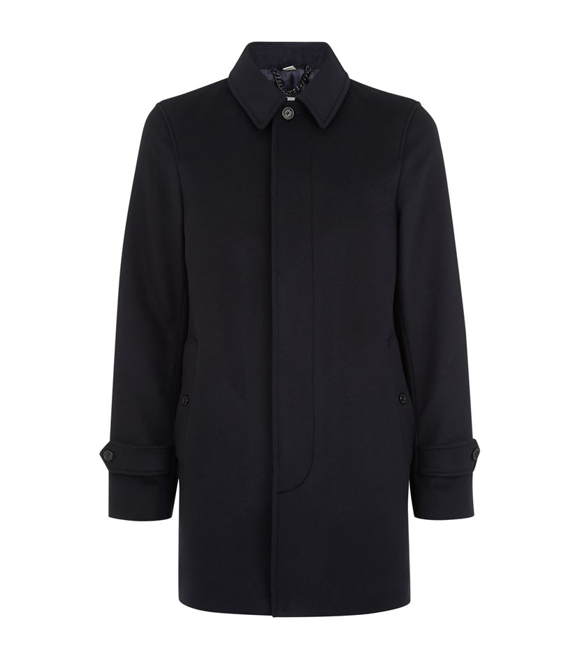 Burberry Roeford Wool And Cashmere Car Coat in Black for Men | Lyst