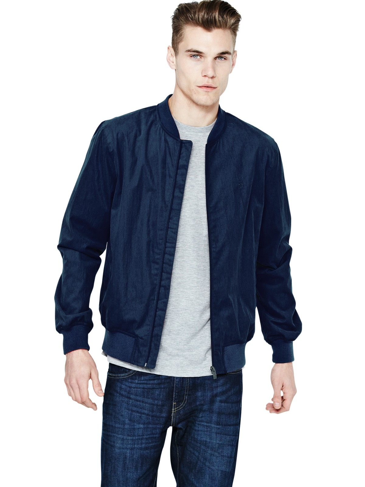 original penguin original penguin mens bomber jacket in
