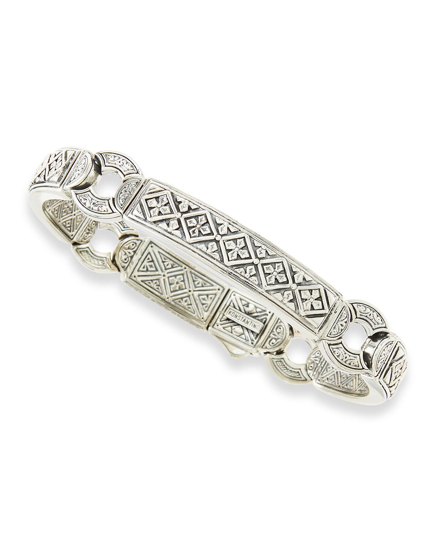 Lyst - Konstantino Men's Sterling Silver Id Bracelet in ...