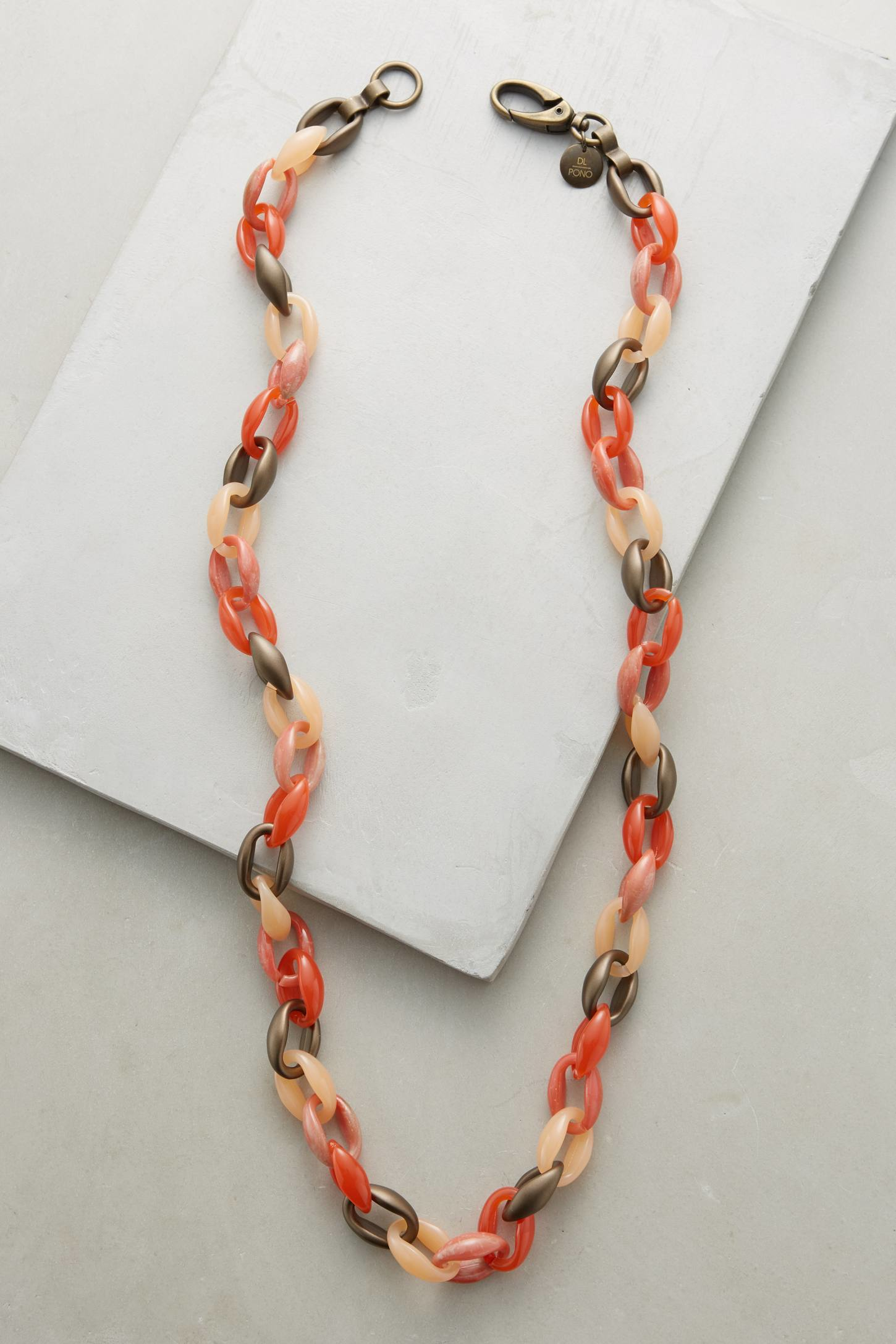 pono caledonia link necklace in pink lyst