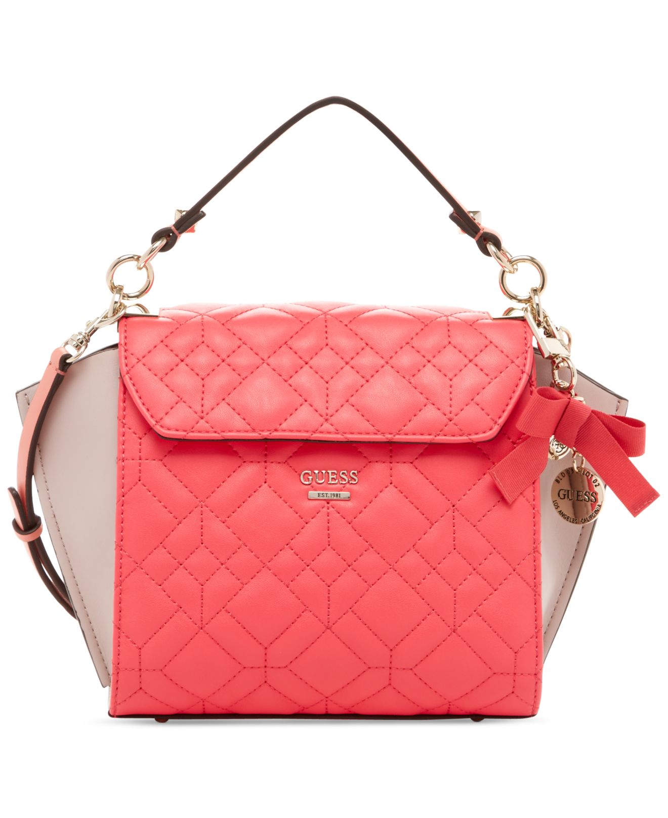 Guess Ines Top Handle Crossbody Bag In Pink Lyst