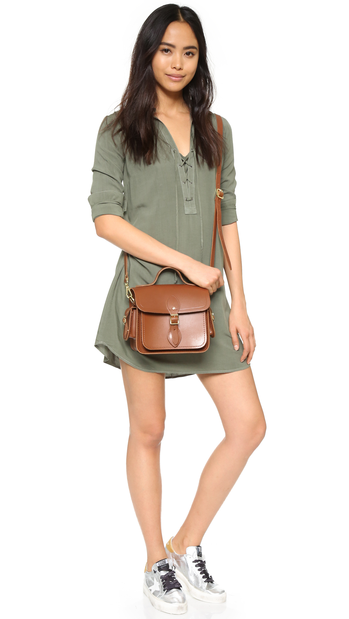 Cambridge satchel company Traveller Bag With Side Pocket in Brown ...