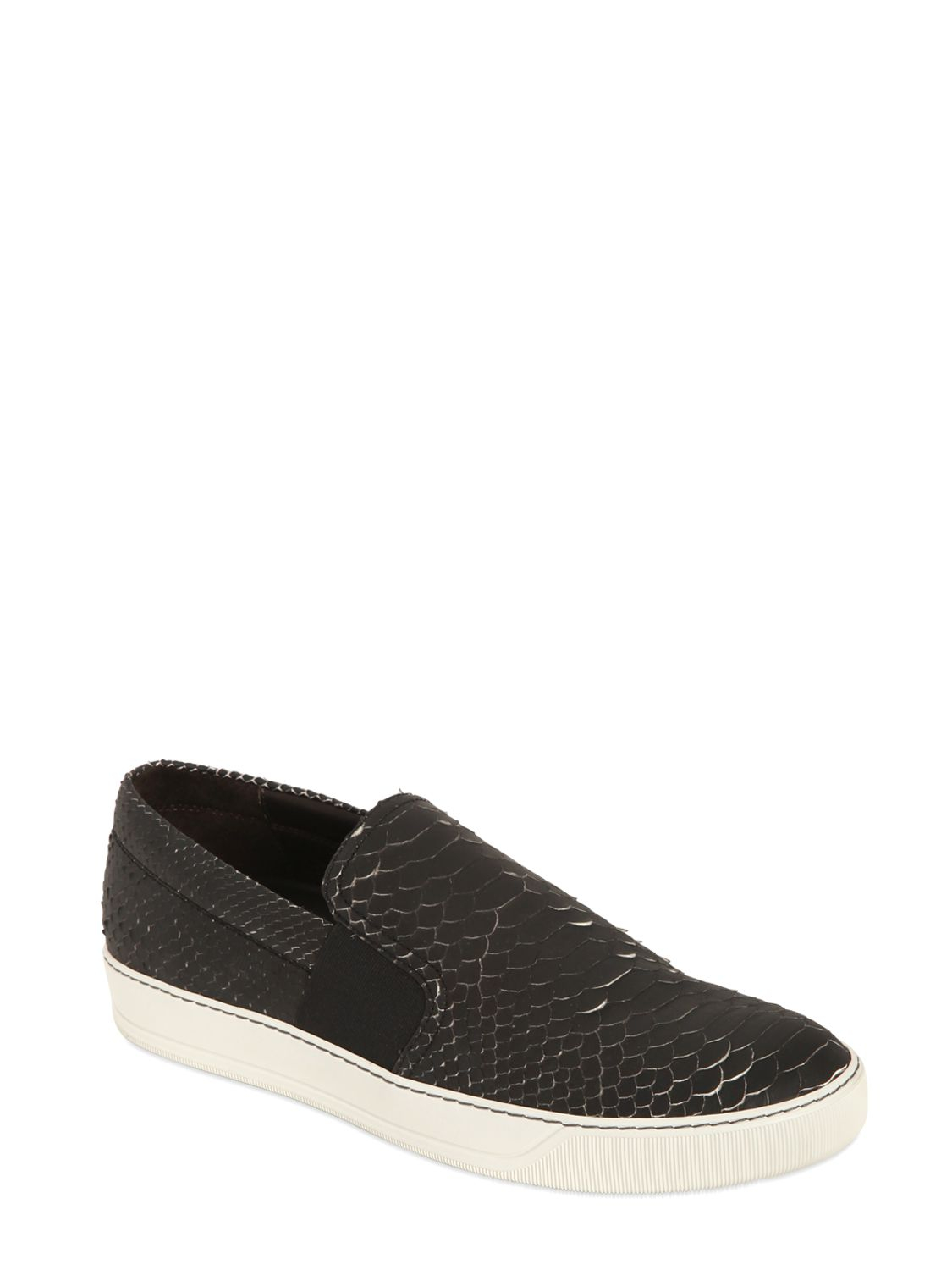 Lanvin Embossed Leather Slip-On Sneakers outlet newest clearance tumblr sale enjoy discount cheap buy cheap newest Ug0MsZm4Gj