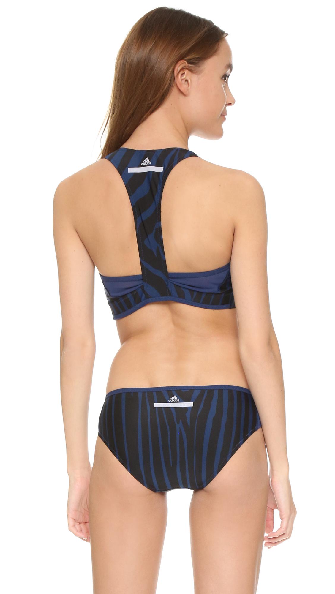 daeab94397 adidas By Stella McCartney Performance Bikini Top in Blue - Lyst