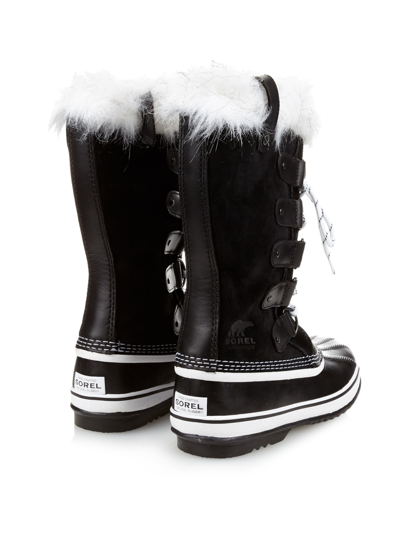 Lyst Sorel Joan Of Arctictm Suede And Rubber Boots In Black