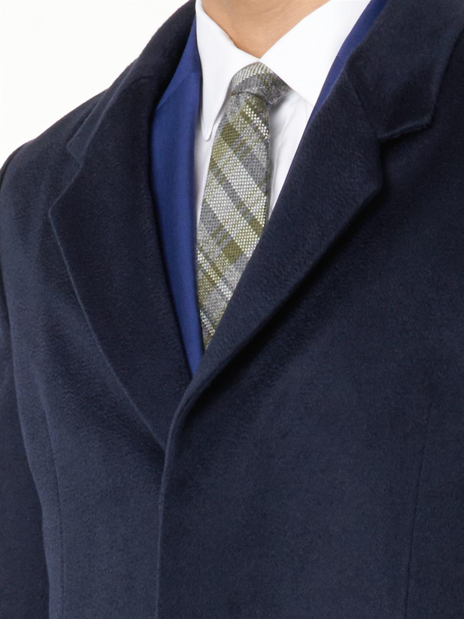 Paul smith Navy Cashmere Coat in Blue for Men - Save 15% | Lyst