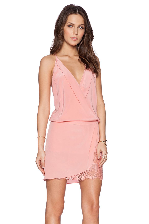 c227119f7642b8 Lyst - Michelle Mason Wrap Mini Dress in Pink