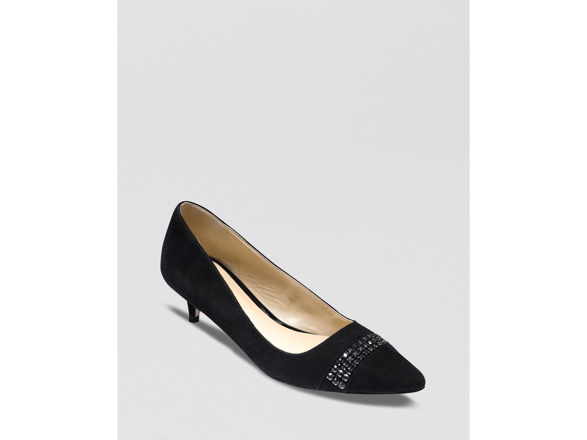 Cole haan Pointed Toe Pumps - Bradshaw Kitten Heel in Black | Lyst