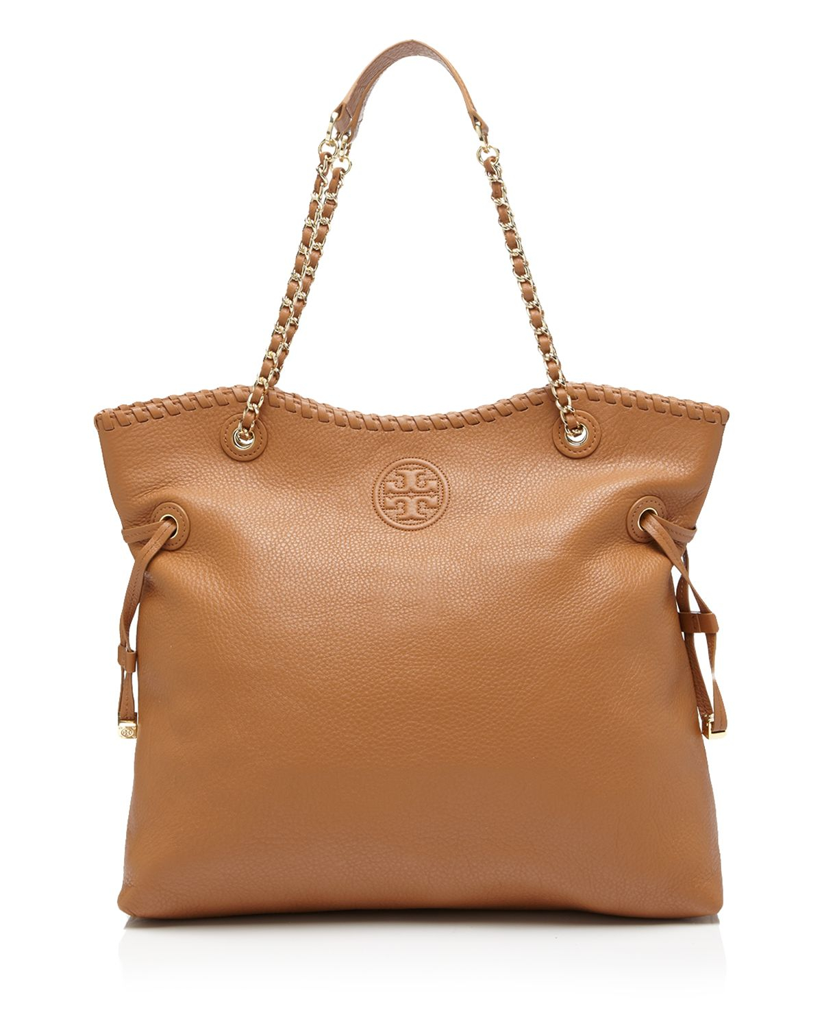 Tory Burch Marion Slouchy Tote In Brown Lyst