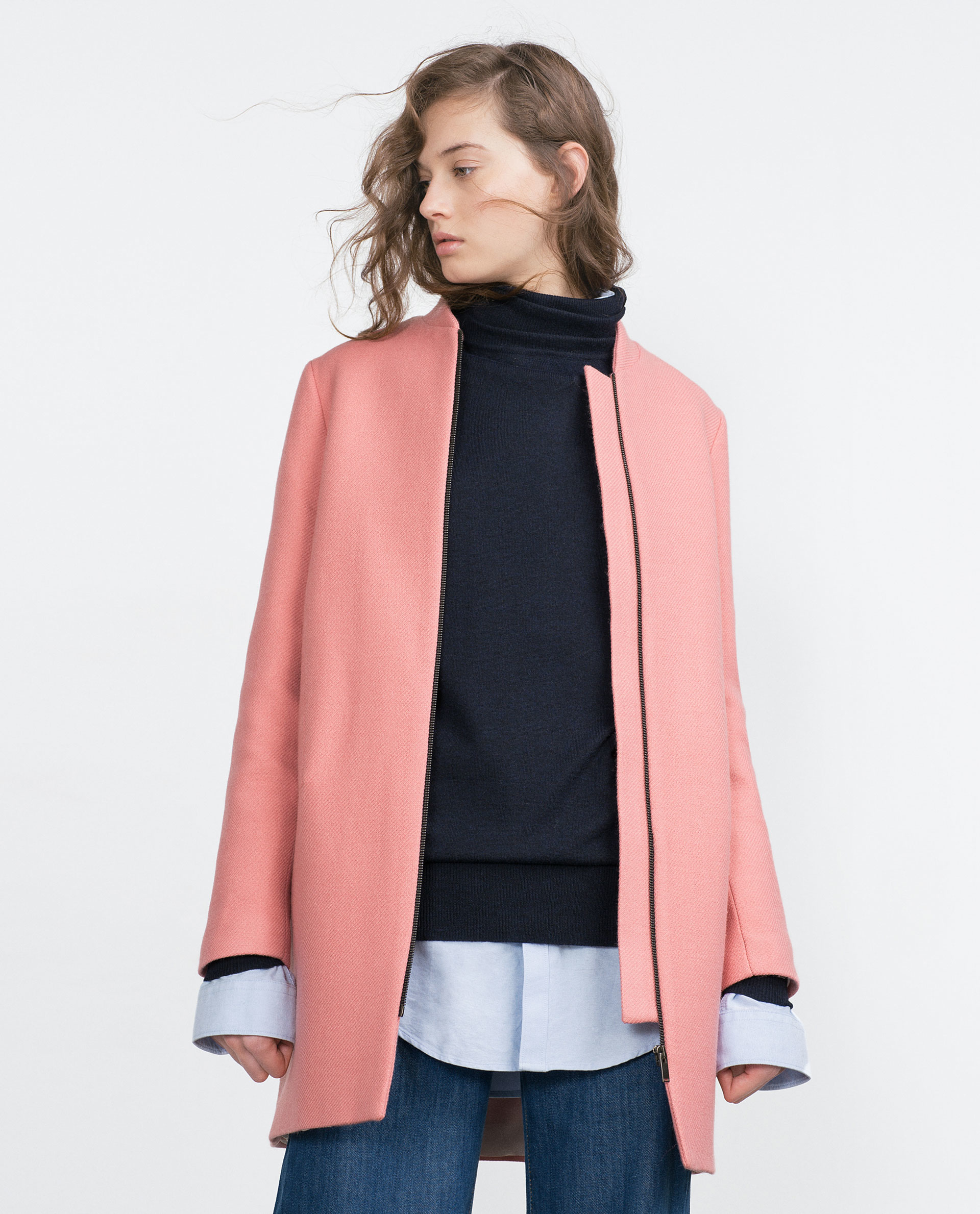 Add a dash of subtle colour to your wardrobe this season with delicate pink coats. Ranging from faux fur to parkas, the pastel hue complements most outfits.