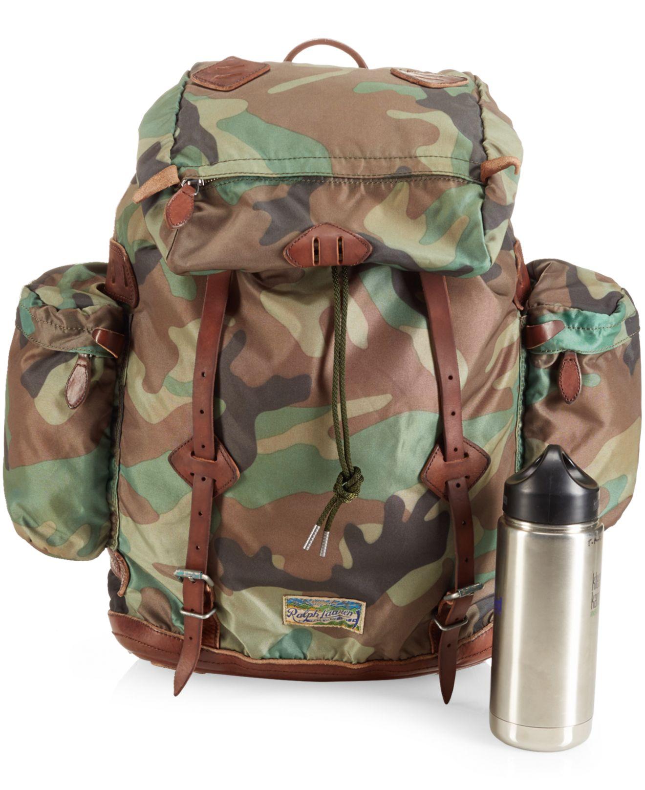 18001f1f39a Lyst - Polo Ralph Lauren Yosemite Nylon Camo Backpack in Green for Men