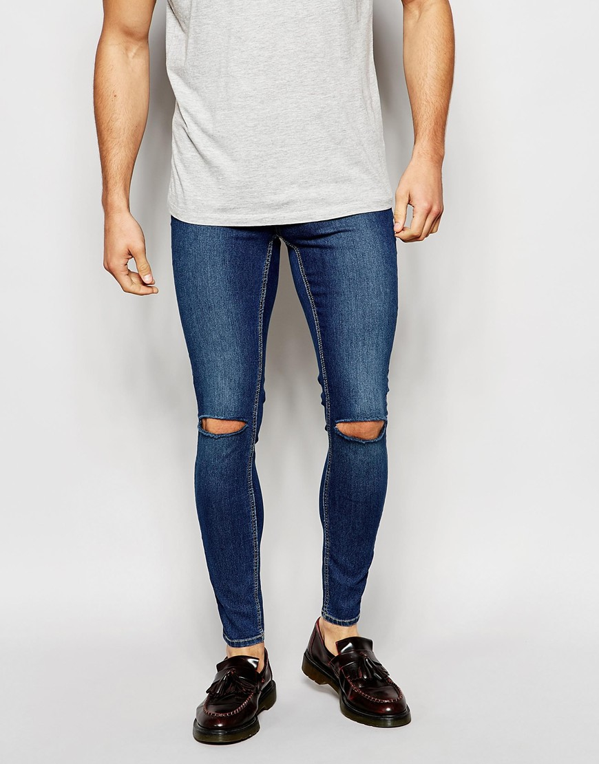 Super Skinny Ripped Jeans