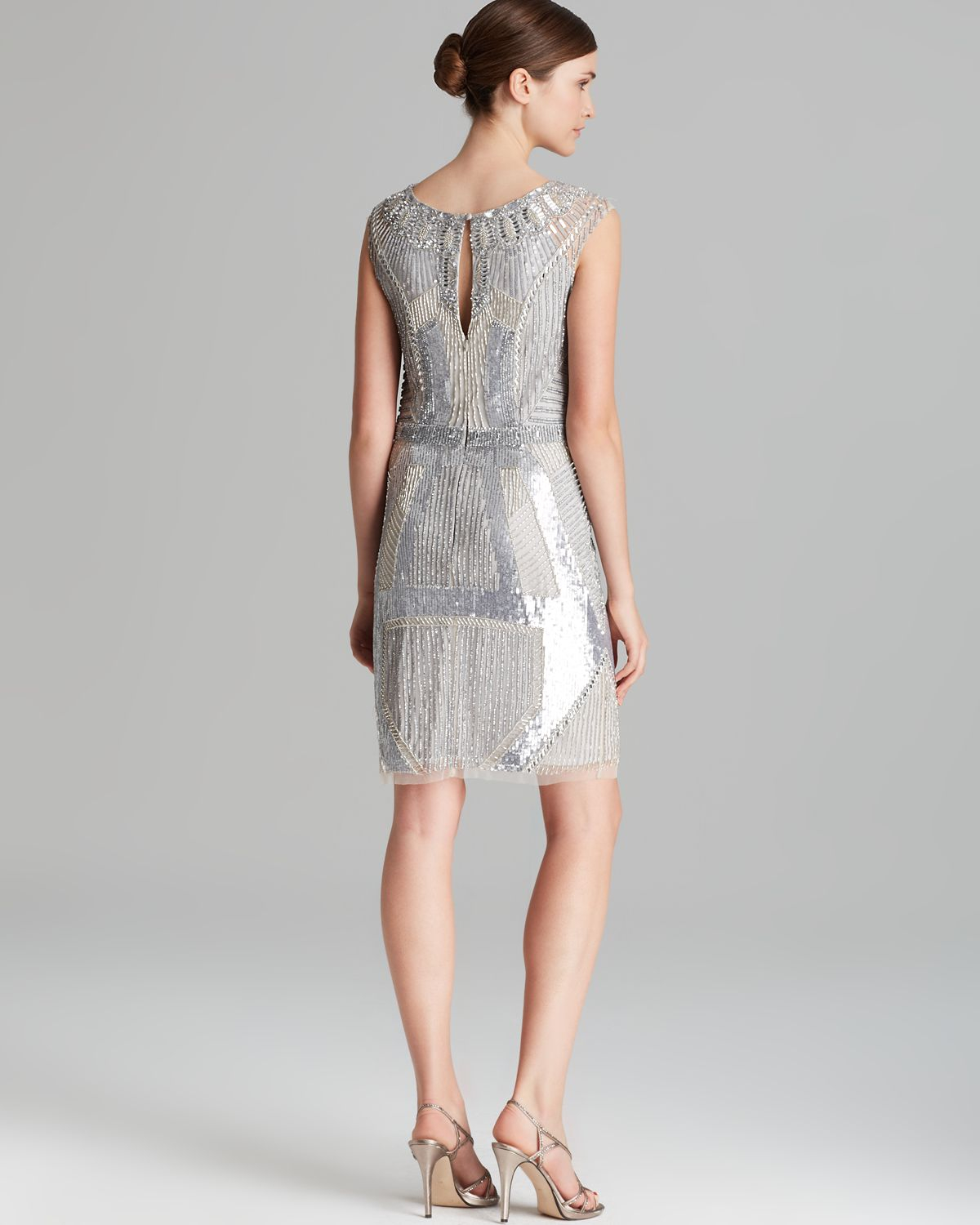 Aidan Mattox Sequin Sheath Dress