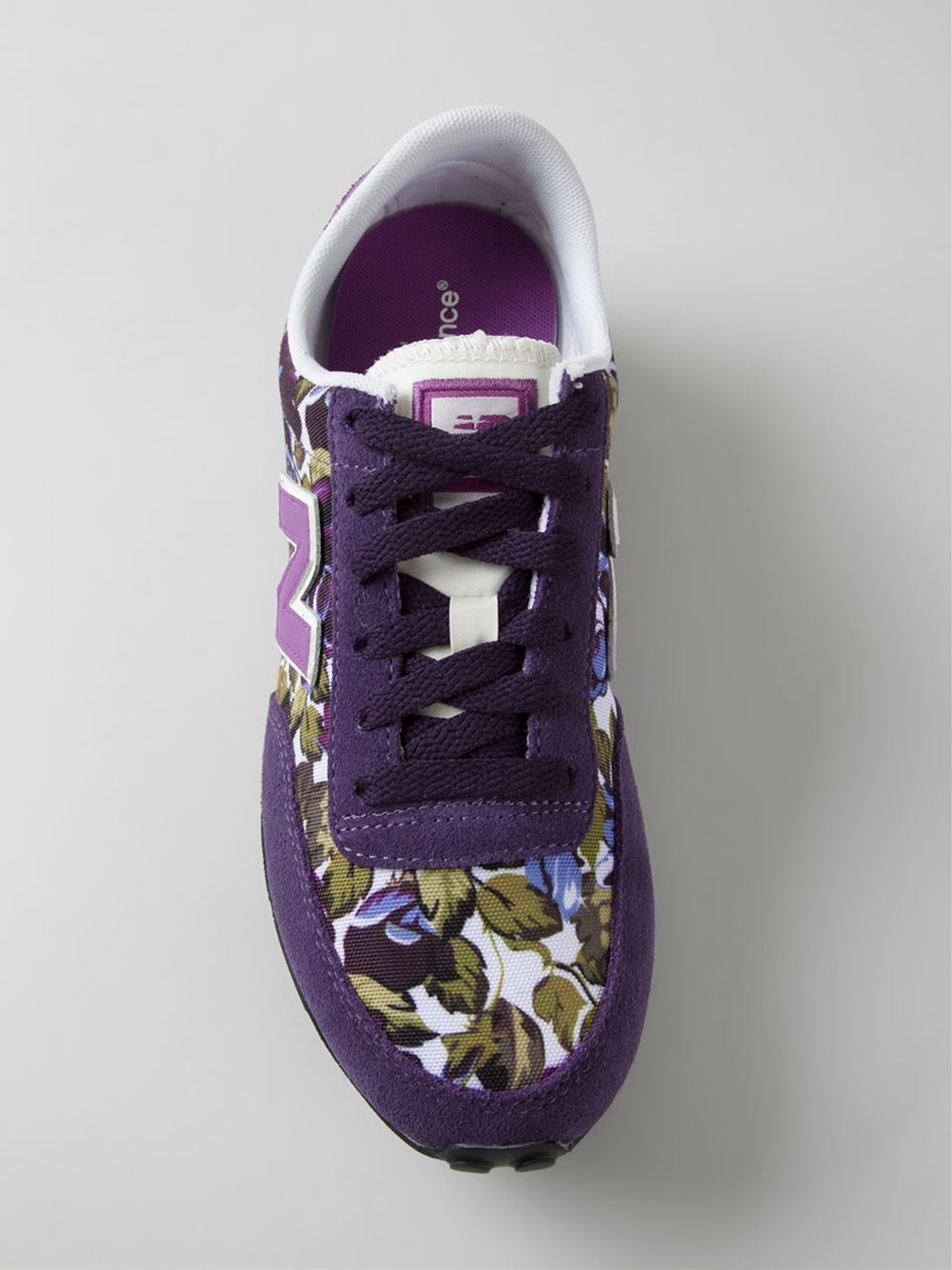 Lyst New Balance 410 Floral Print Sneakers In Purple