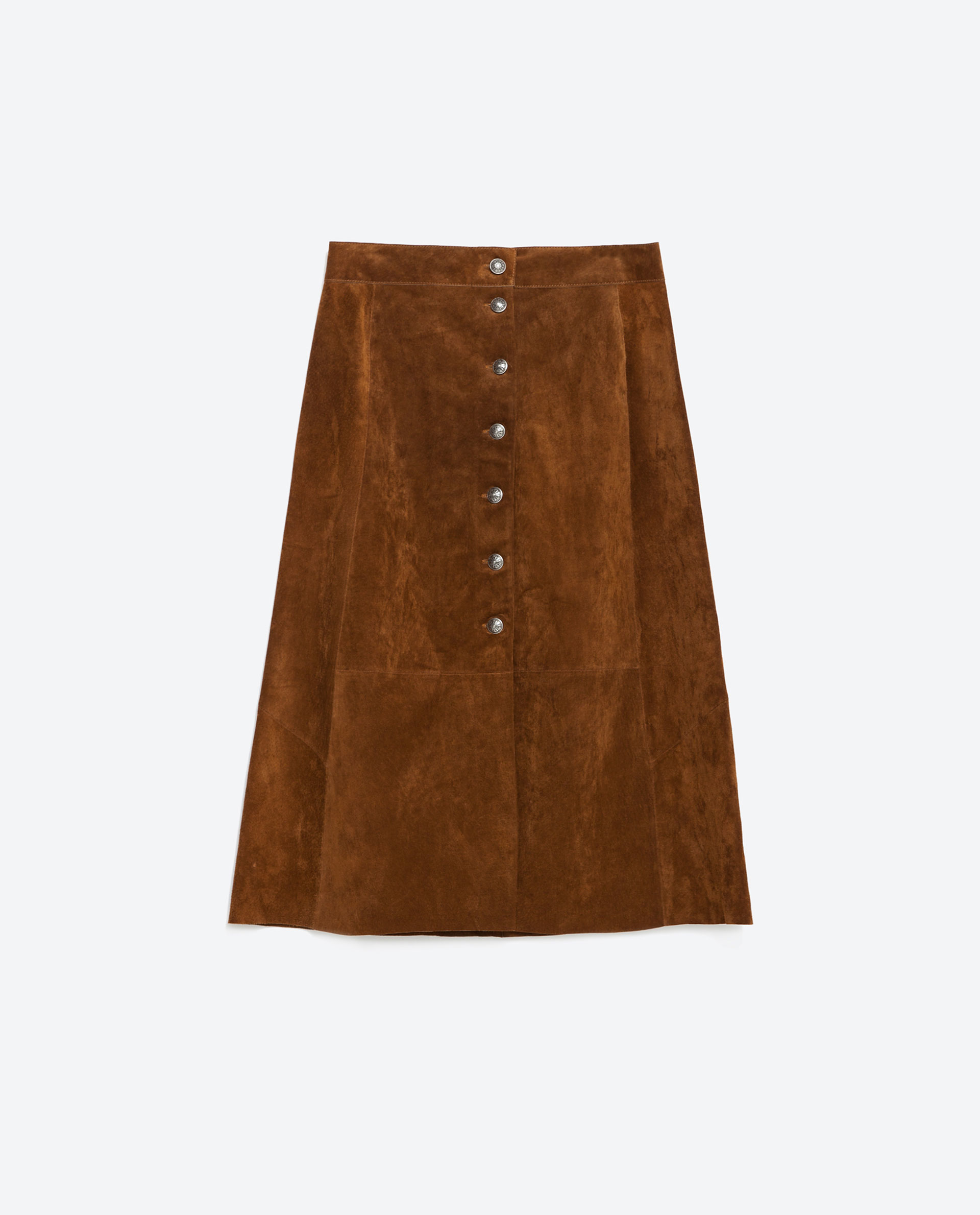 zara leather skirt in brown lyst